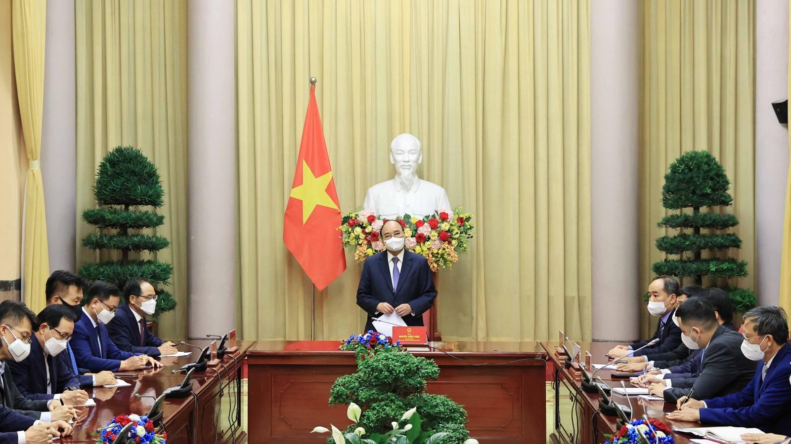 Chủ tịch nước: Việt Nam mong muốn hợp tác với Hàn Quốc sản xuất vaccine