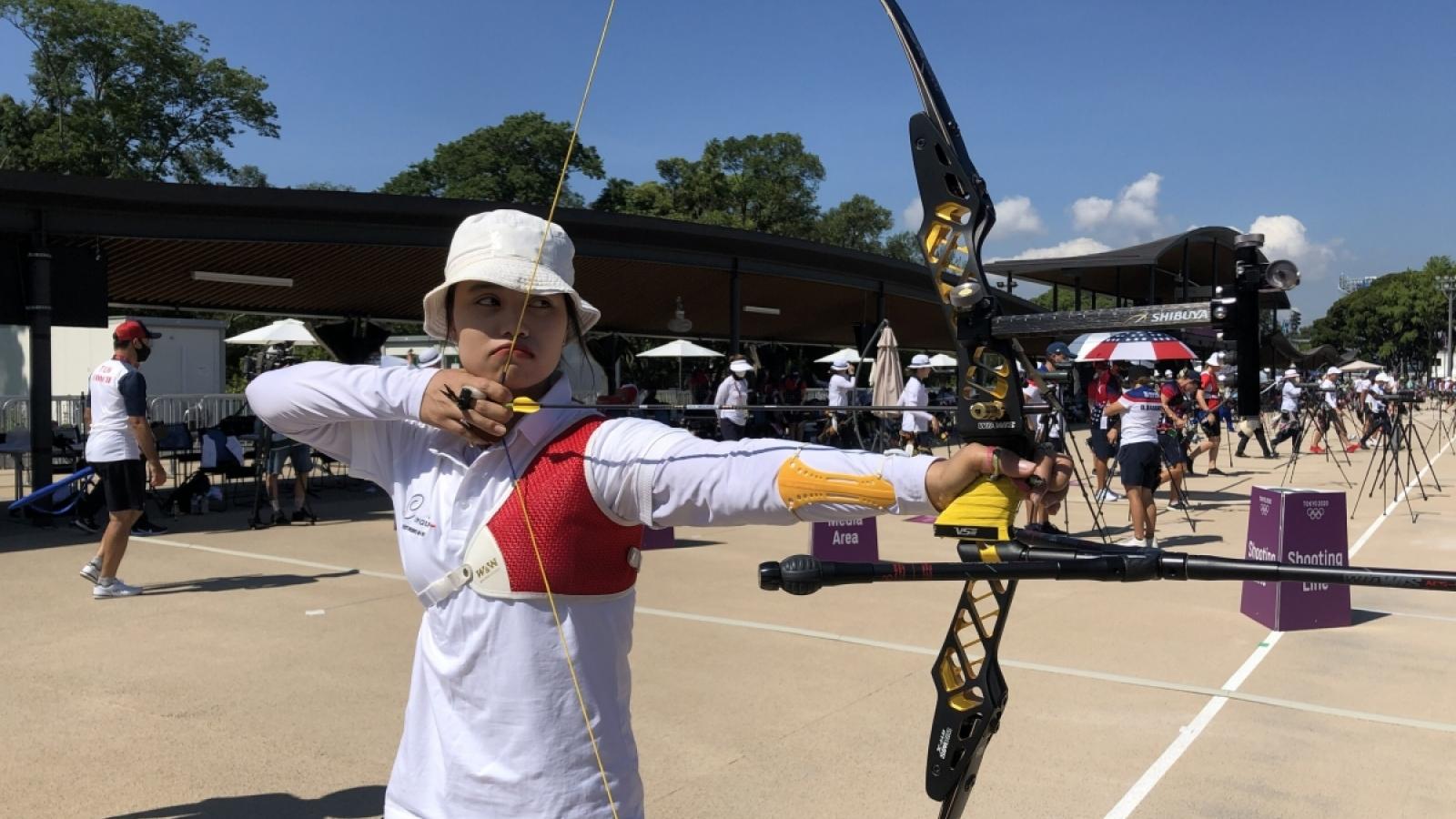 Vòng loại bắn cung Olympic Tokyo: Ánh Nguyệt đạt thành tích tốt nhất trong năm