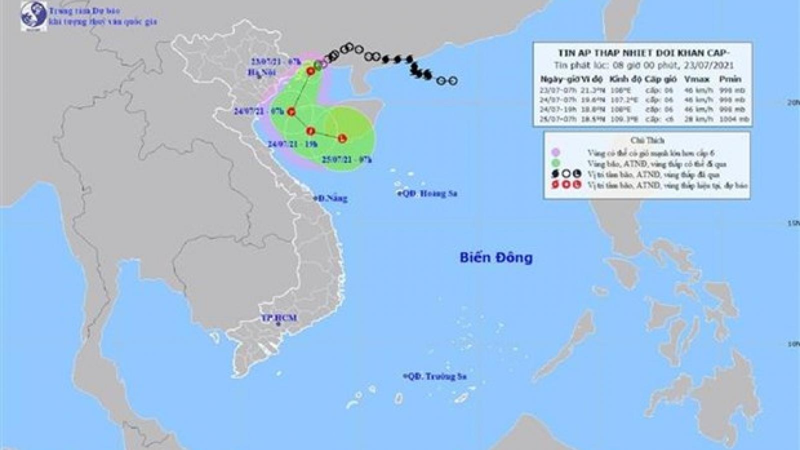 Áp thấp nhiệt đới đổ bộ vào Hải Phòng, Ninh Bình, gió giật cấp 8