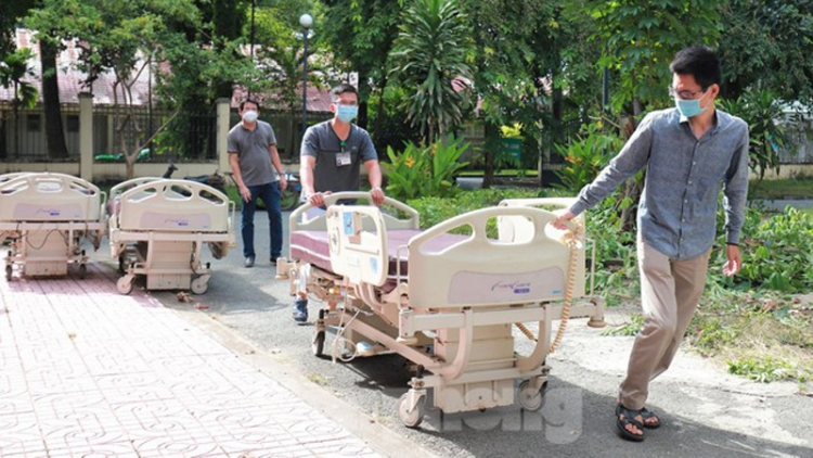 COVID-19 treatment centre takes shape in HCM City Military Hospital