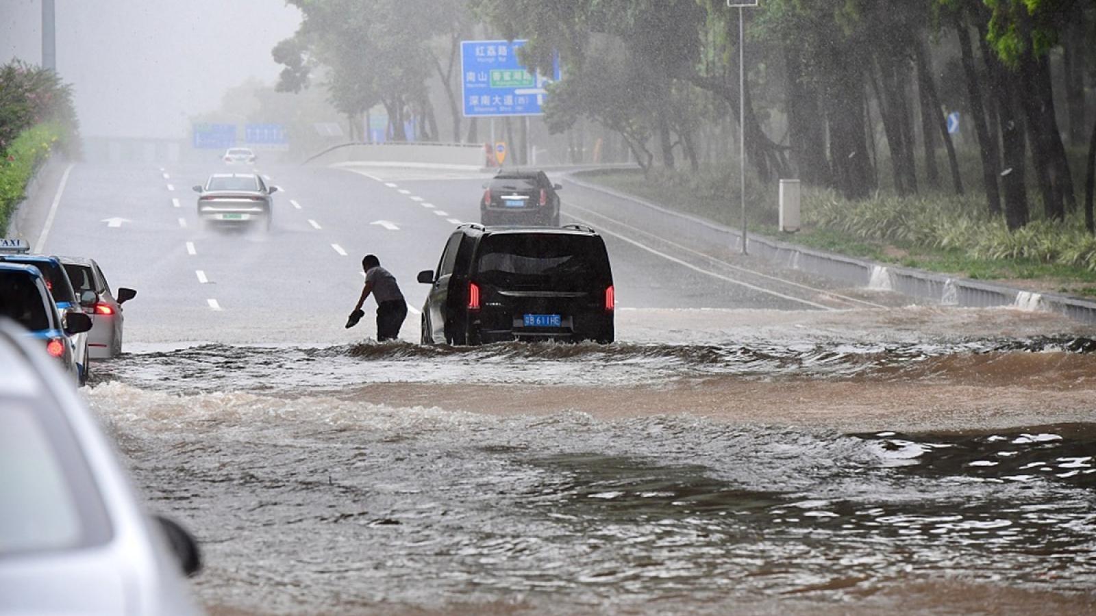 Quảng Đông (Trung Quốc) phát đi 50 cảnh báo vì bão kép