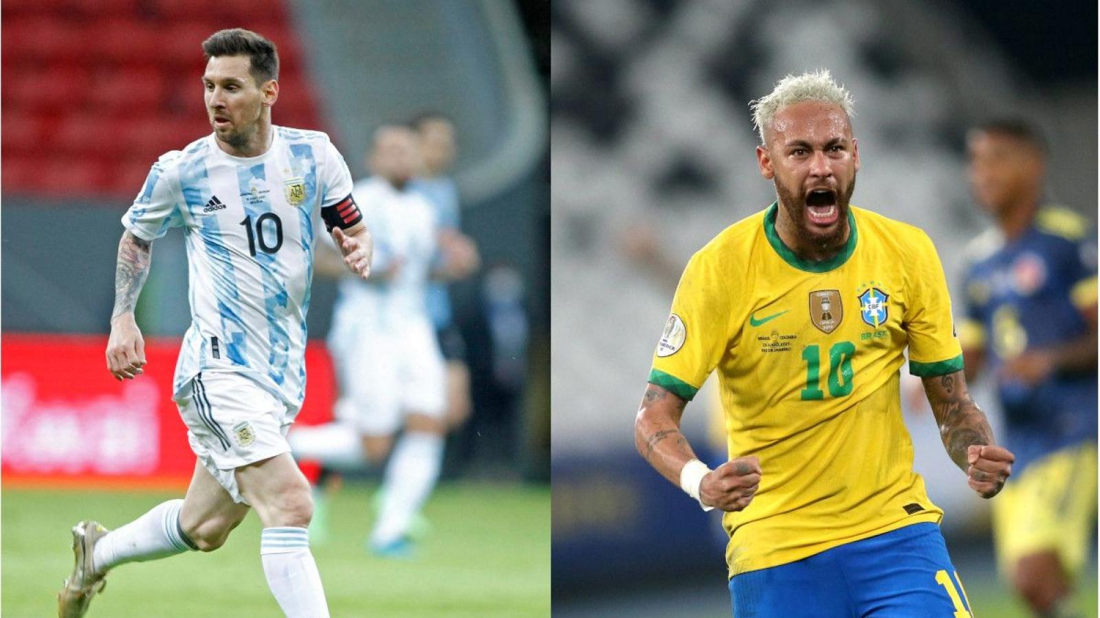 Hành trình vào chung kết Copa America 2021 của Argentina và Brazil