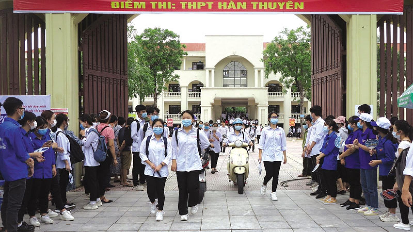 Bắc Ninh phân luồng, điều tiết giao thông cho kỳ thi tốt nghiệp THPT năm 2021