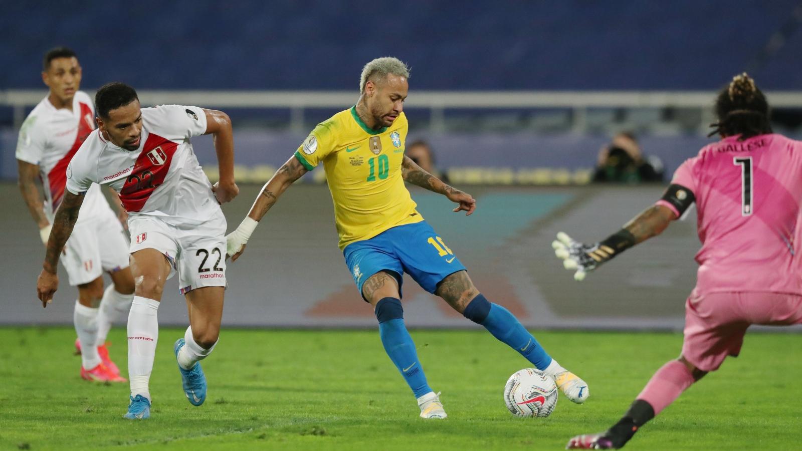 Neymar tỏa sáng trước Peru, Brazil vào chung kết Copa America 2021