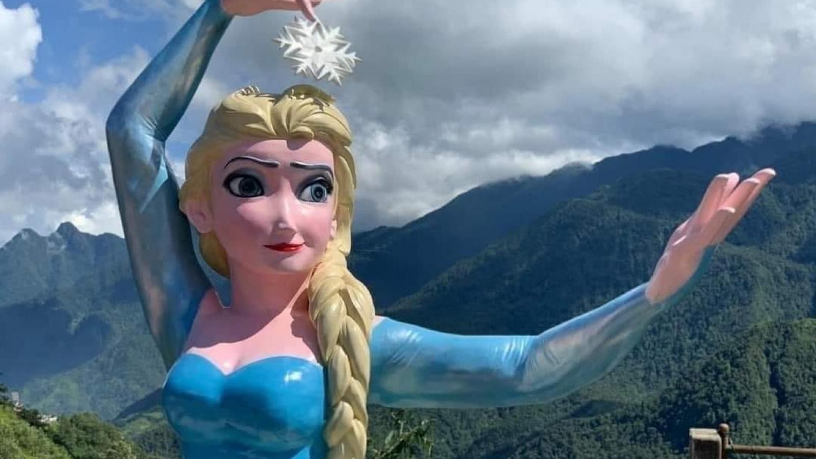 Tượng nữ hoàng băng giá Elsa ở Sa Pa bị tháo dỡ