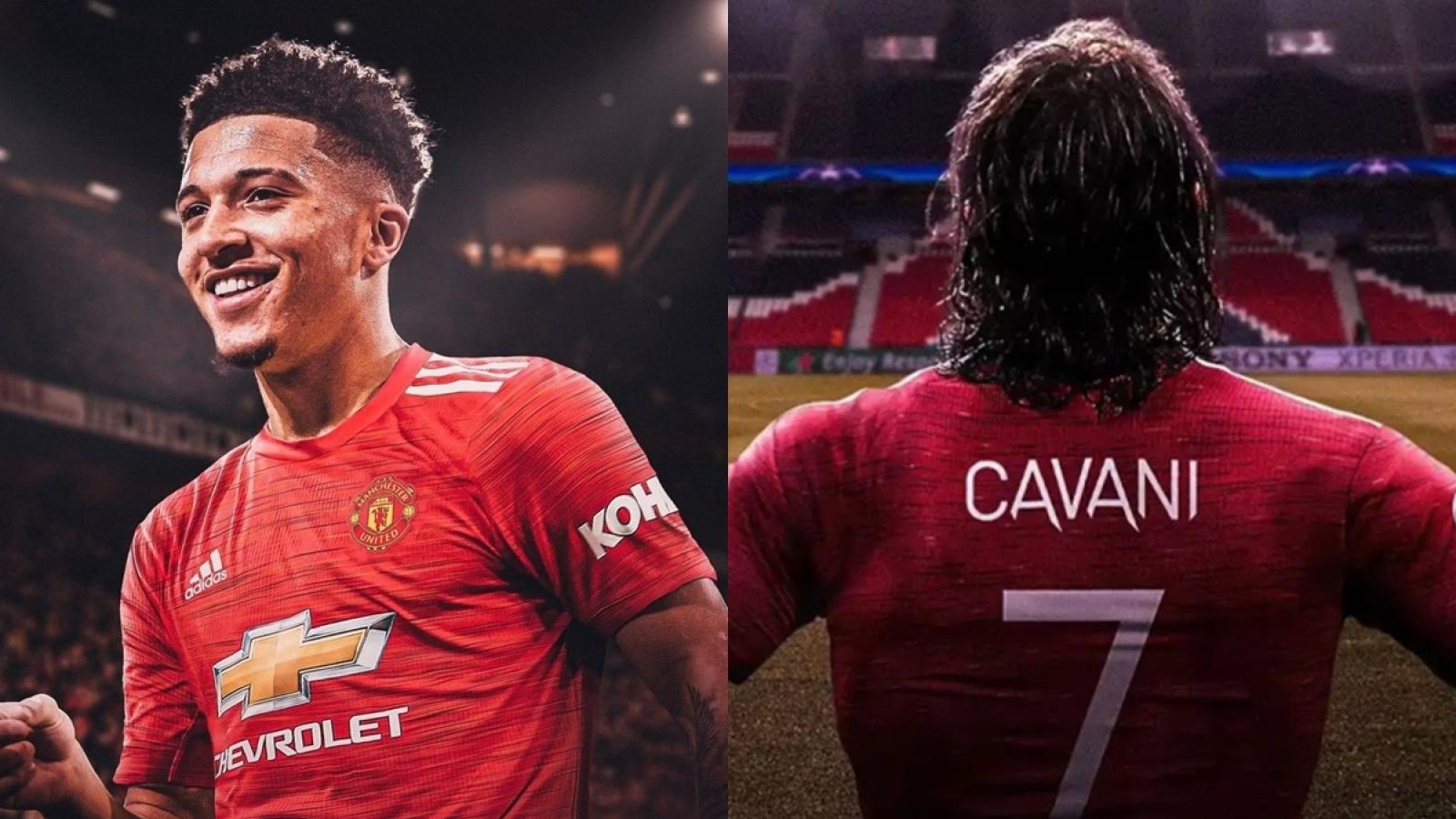 Edinson Cavani nhường chiếc áo số 7 ở MU cho Jadon Sancho?