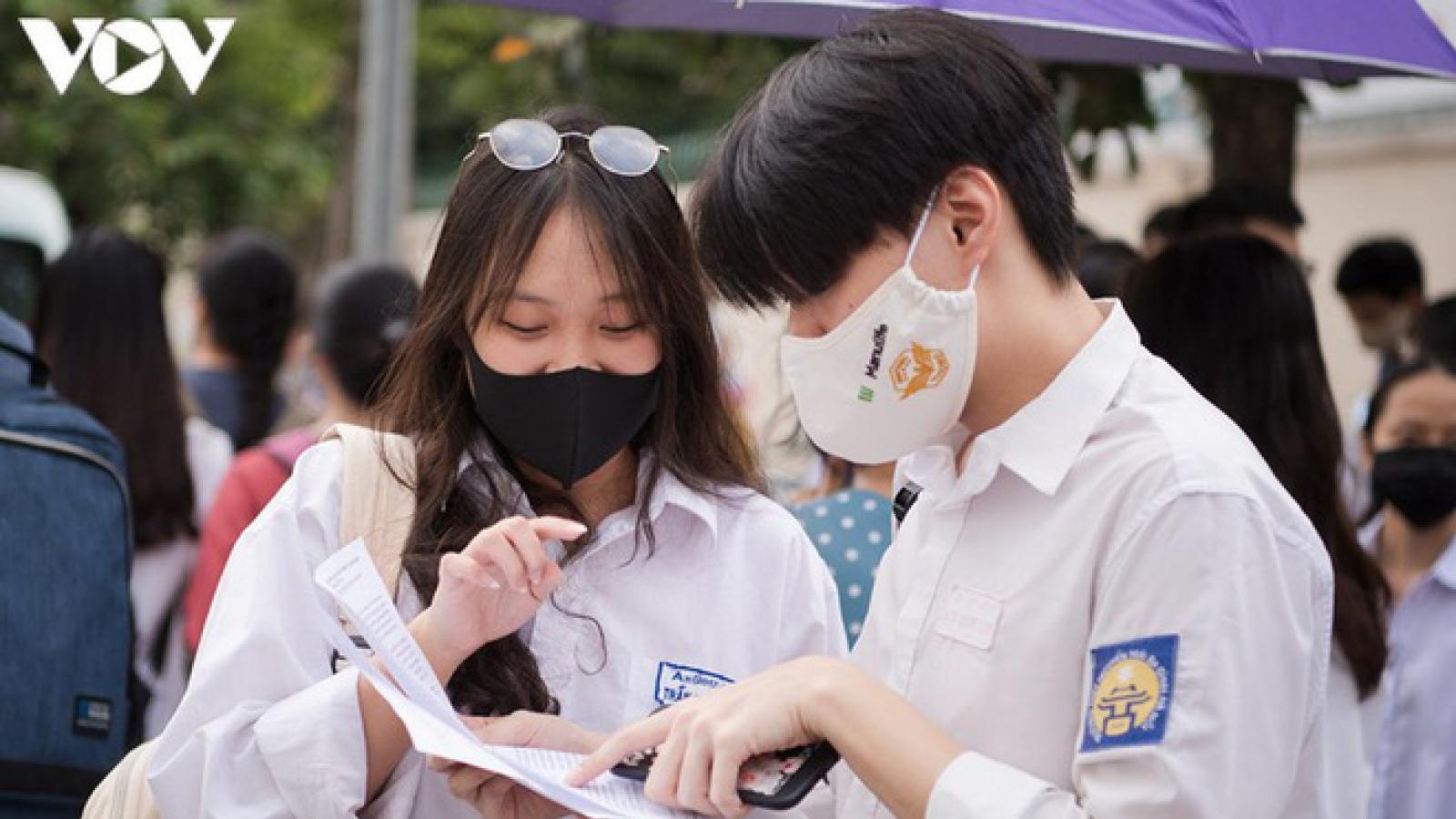 Bộ Giáo dục và Đào tạo bắt đầu công bố đáp án chấm thi tốt nghiệp