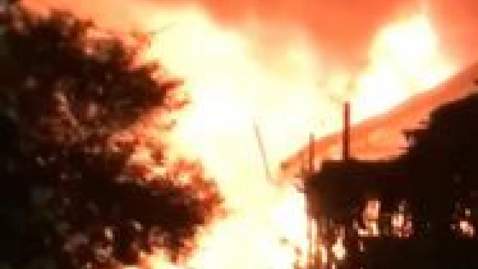 Một cửa hàng bán phụ tùng xe máy tại TP Hội An bị cháy trong đêm