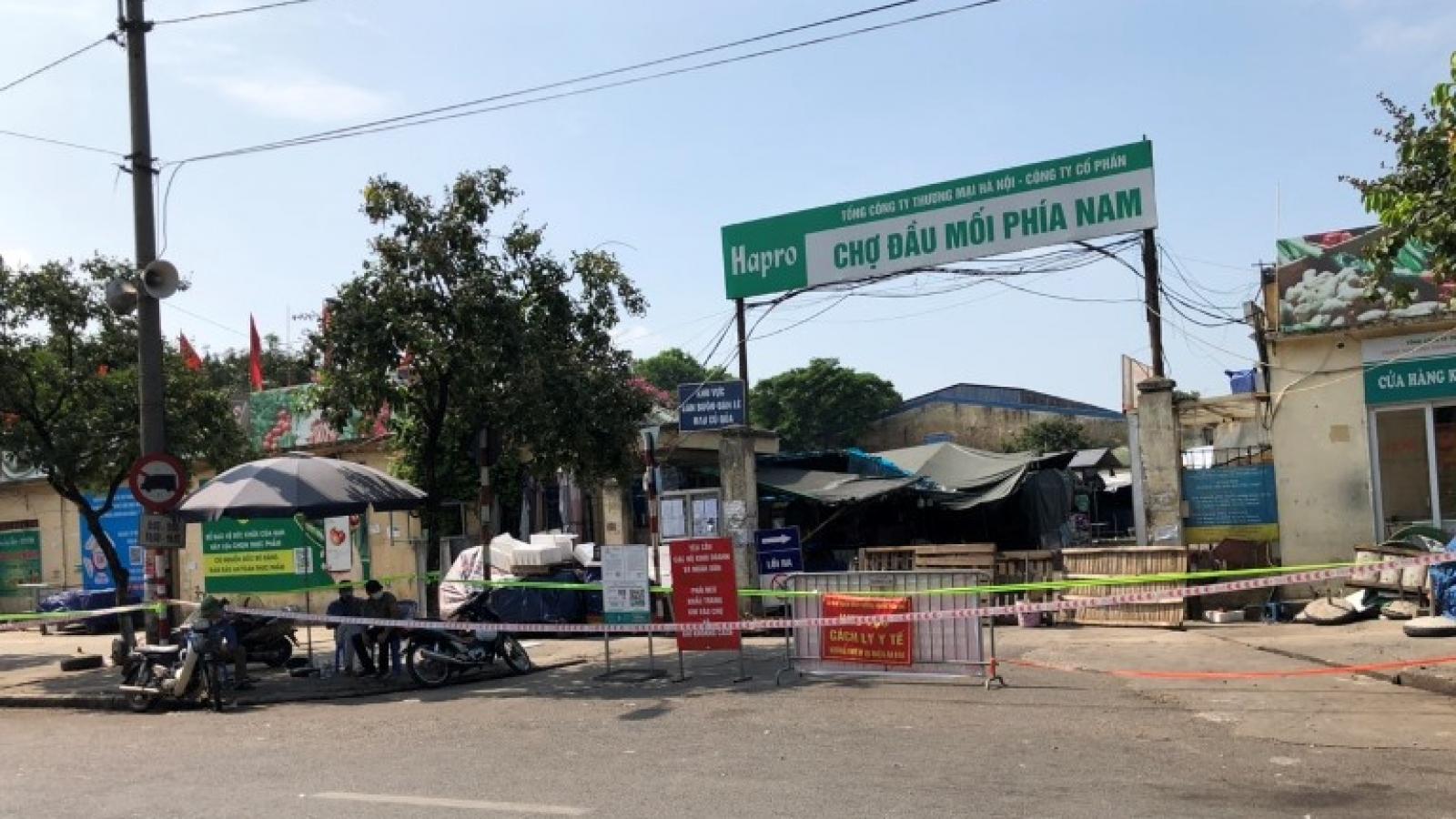 Hà Nội tạm thời phong tỏa chợ đầu mối phía Nam