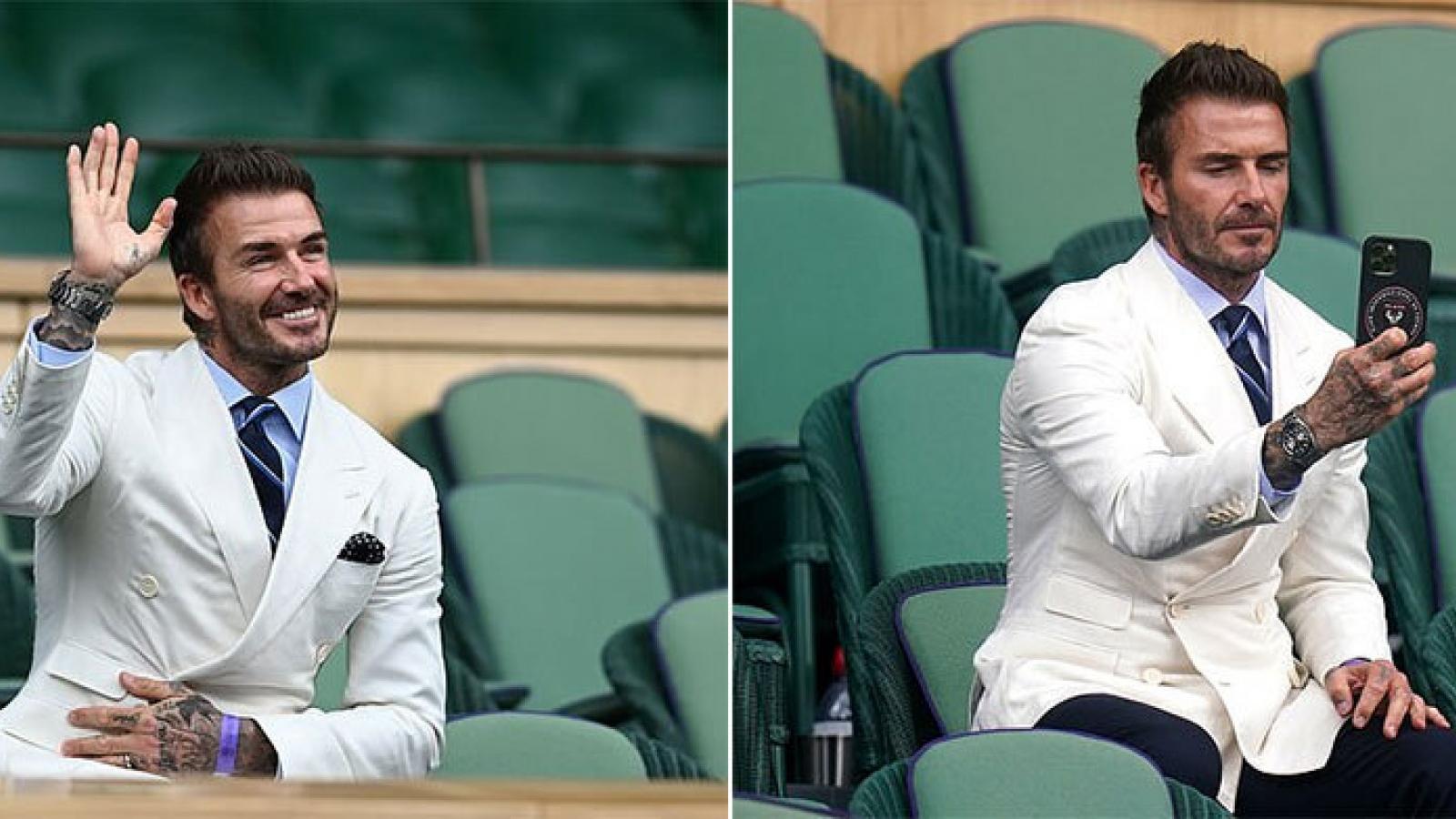 David Beckham diện vest lịch lãm đi xem Wimbledon
