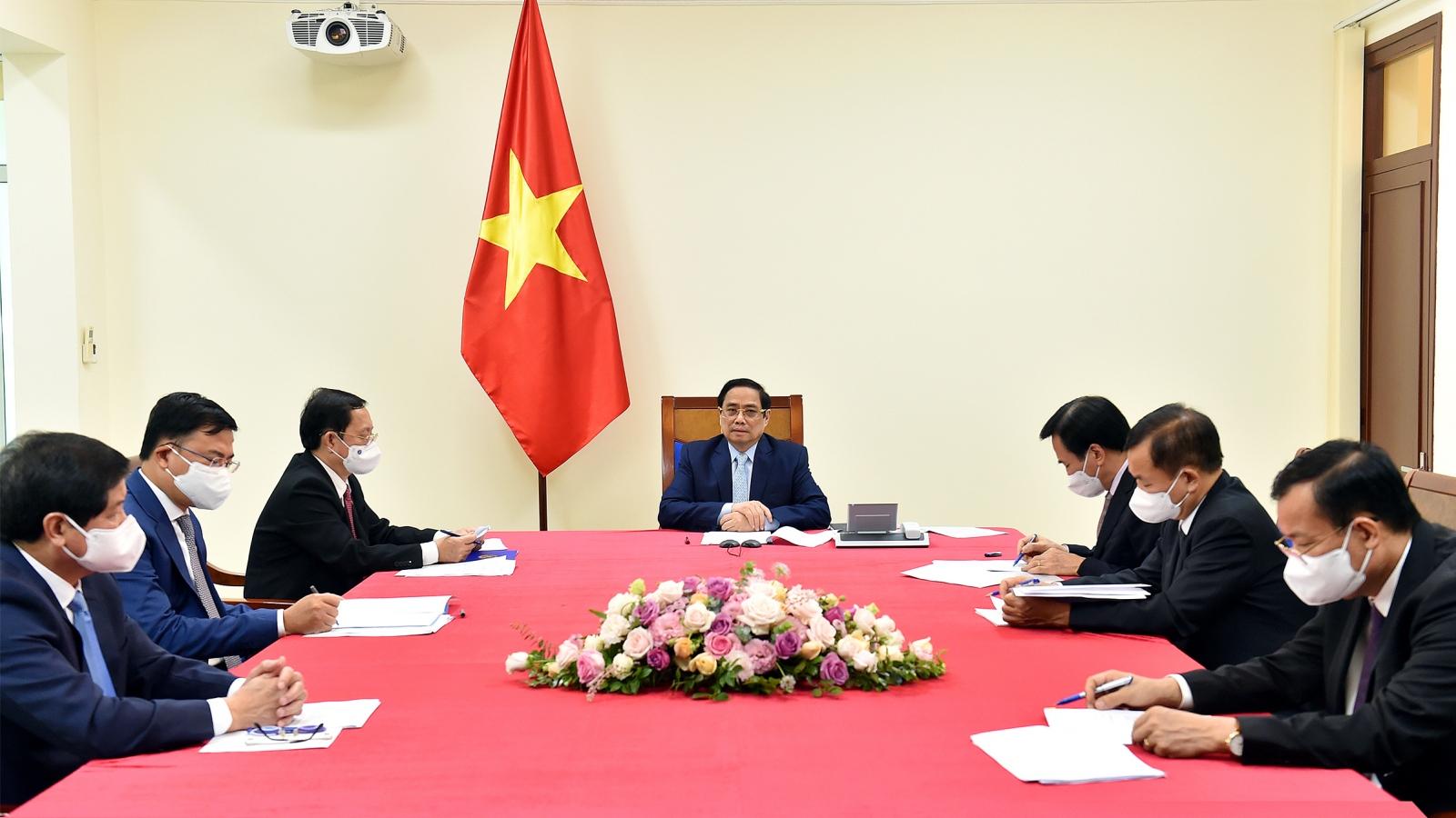 Thủ tướng Phạm Minh Chính điện đàm với Thủ tướng Nhà nước Israel Naftali Bennett