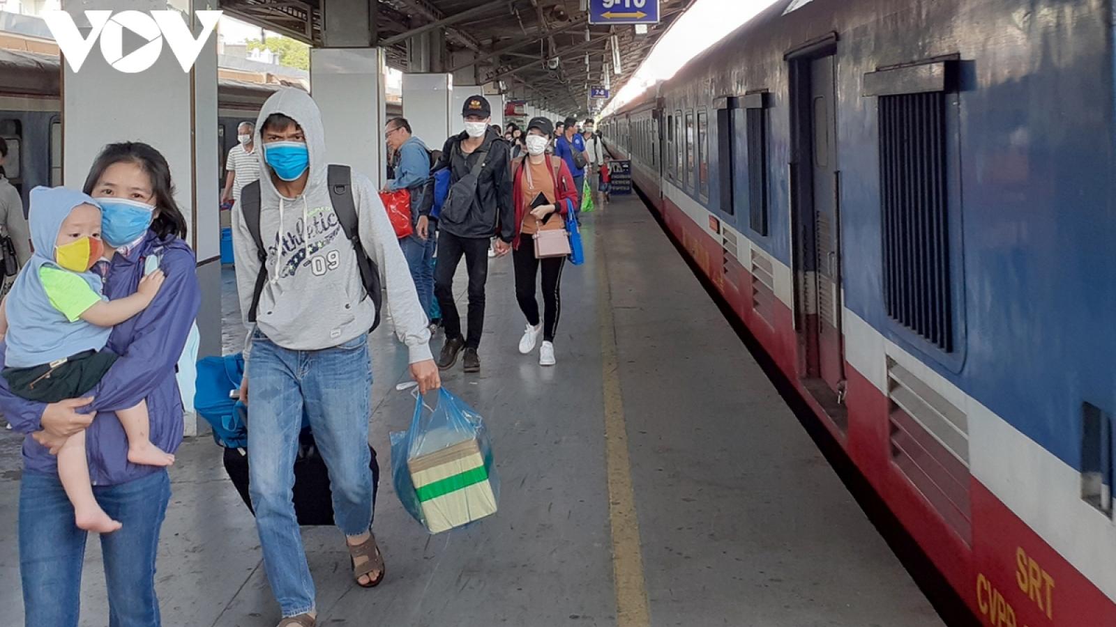 Sẽ có nhiều chuyến tàu chuyên biệt đưa người dân từ các tỉnh phía Nam về quê