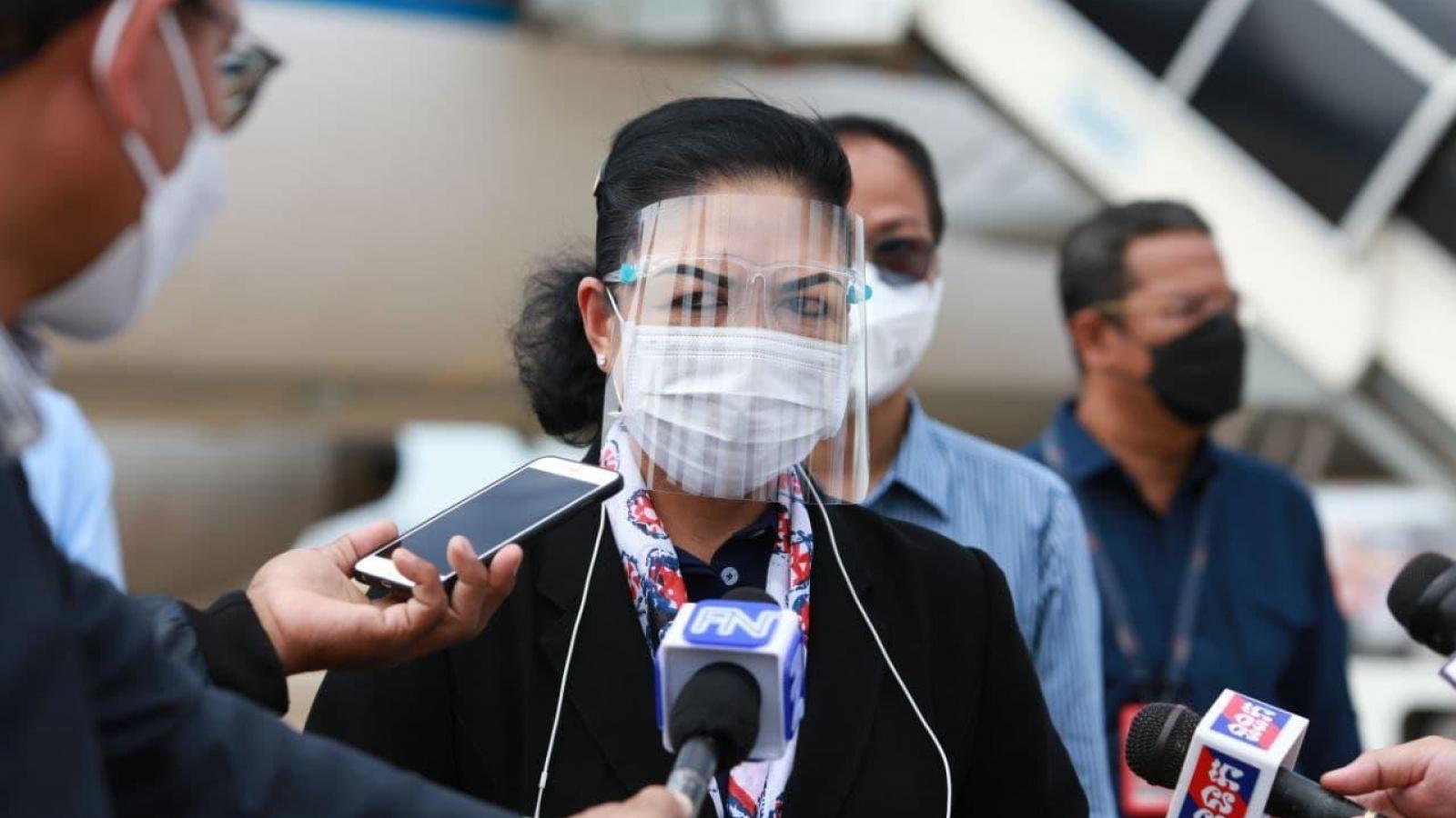 Campuchia đủ nguồn vaccine Covid-19 tiêm chủng cho 80% dân số