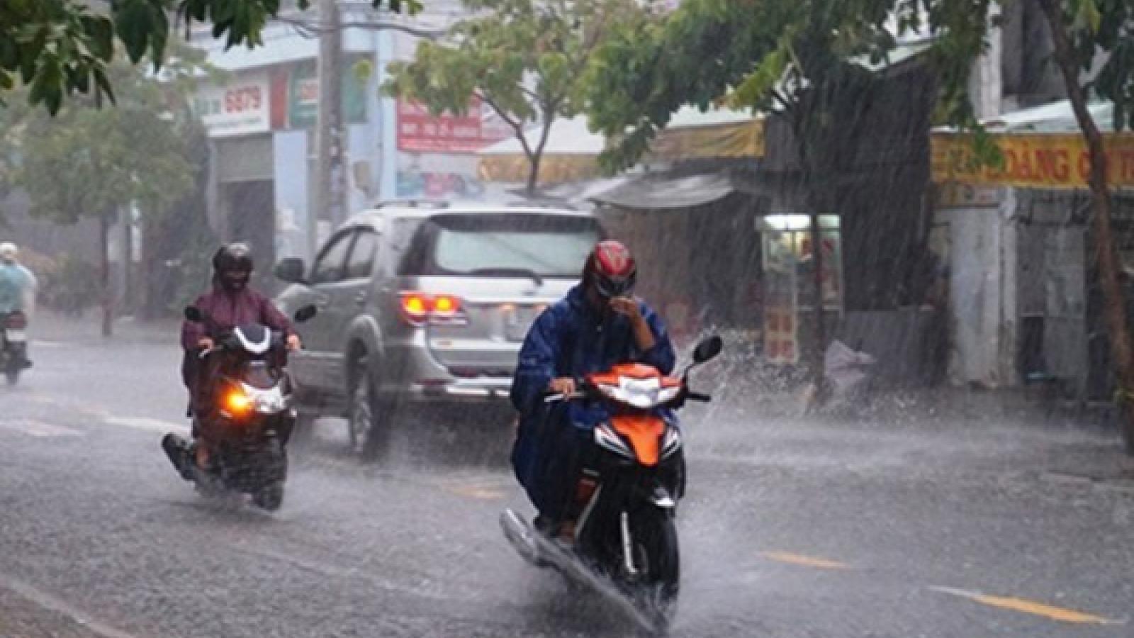 Hôm nay (27/7) Bắc Bộ, Nam Bộ và Tây Nguyên có mưa vừa, mưa to