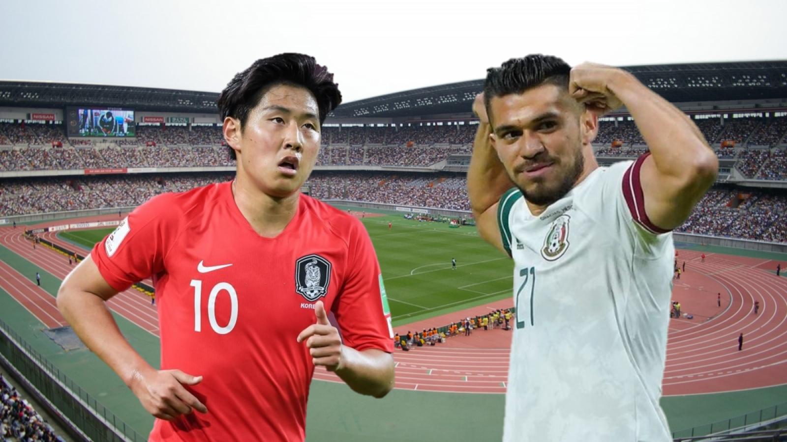 TRỰC TIẾP Hàn Quốc vs Mexico: Xứ Kim chi thị uy sức mạnh