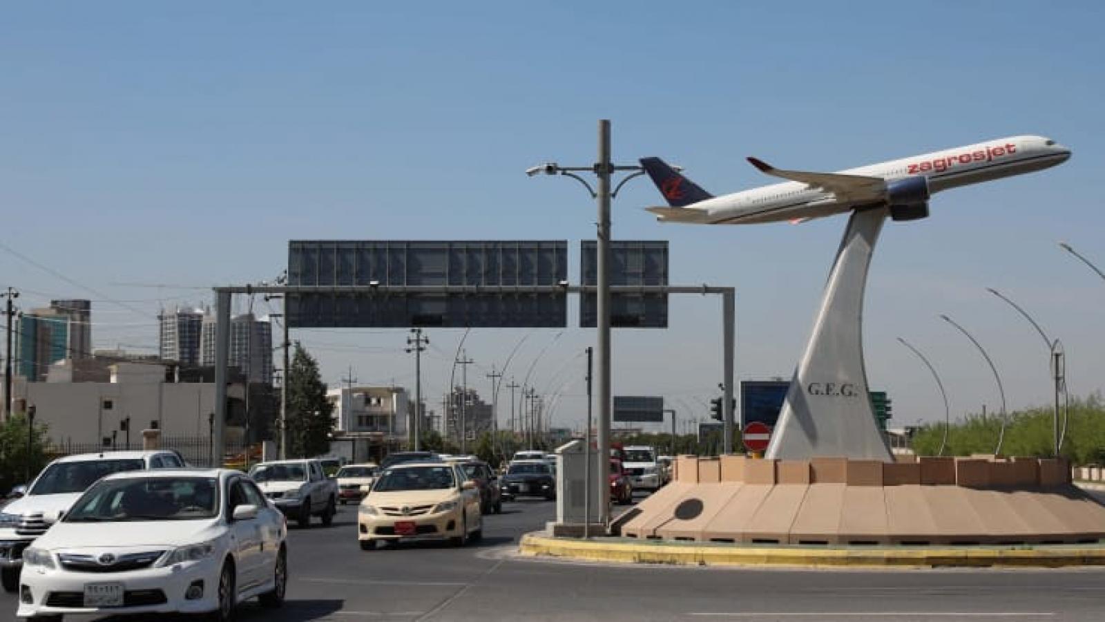 Thiết bị bay không người lái mang theo chất nổ tấn công sân bay quốc tế Erbil (Iraq)
