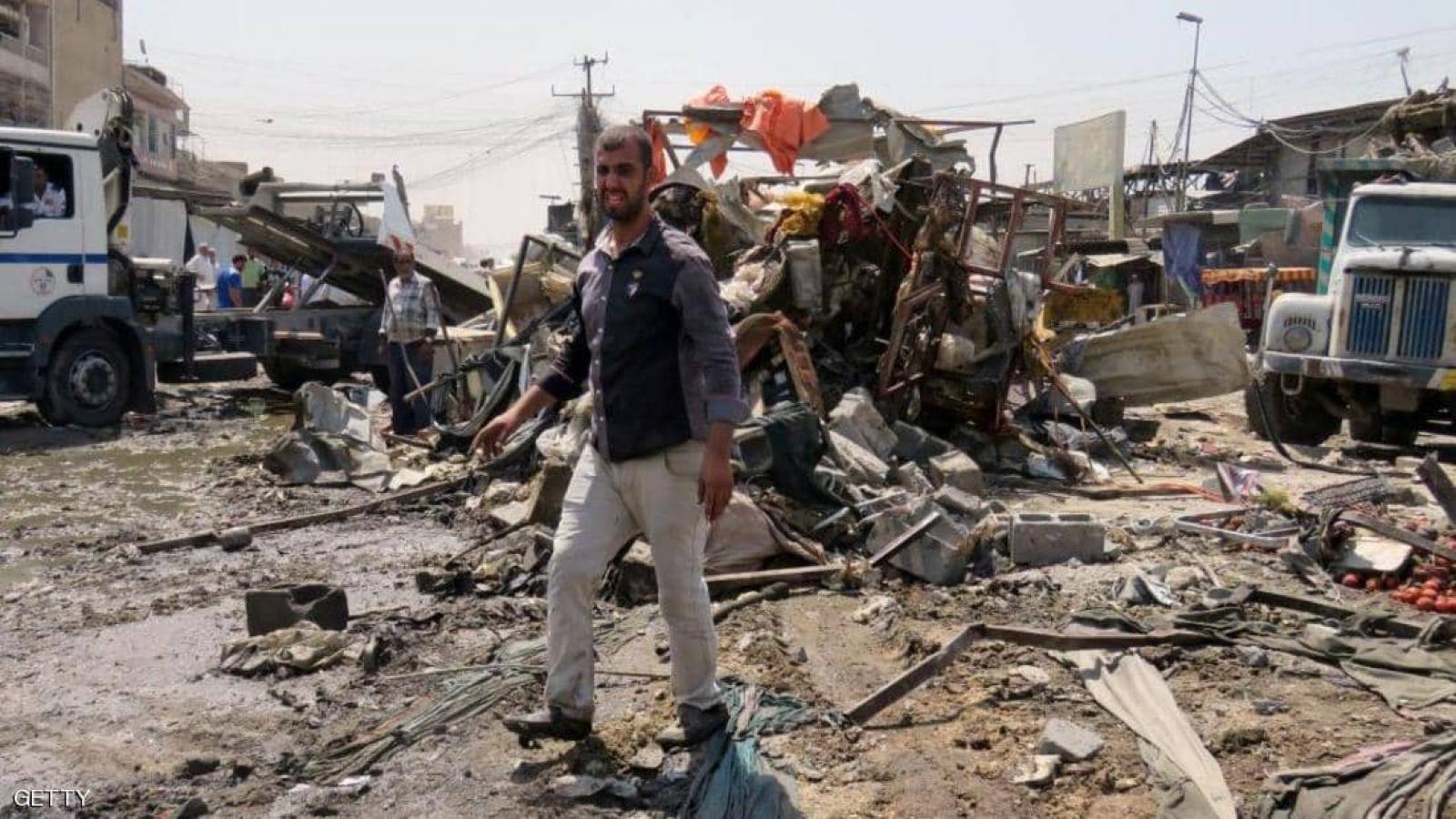 Nổ lớn tại một khu chợ đông đúc ở Baghdad (Iraq) khiến 15 người bị thương