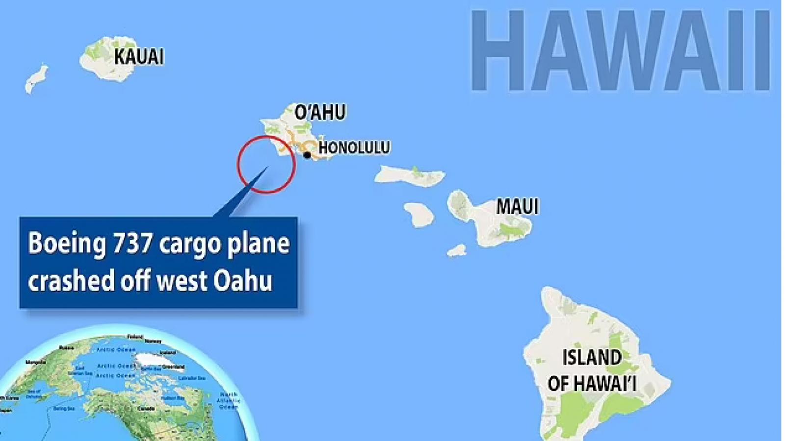 Máy bay Boeing 737 chở hàng lao xuống biển ở ngoài khơi Honolulu
