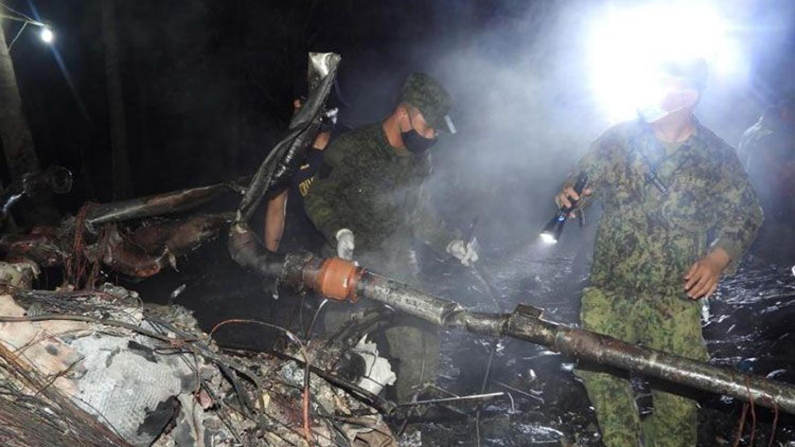 Philippines kết thúc tìm kiếm máy bay rơi với 52 người thiệt mạng