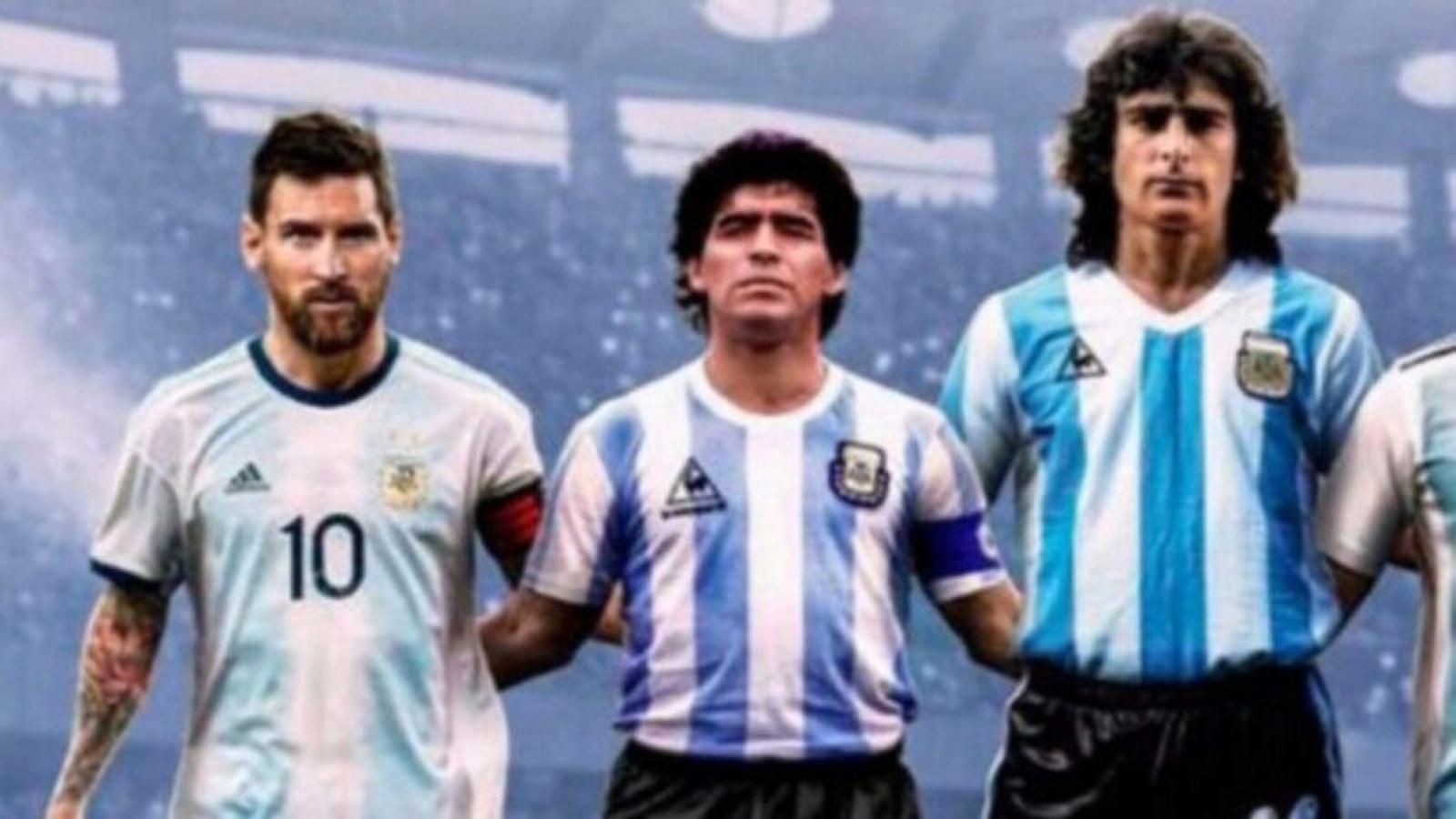 """Huyền thoại bóng đá Argentina: """"Messi không thể so với Maradona"""""""