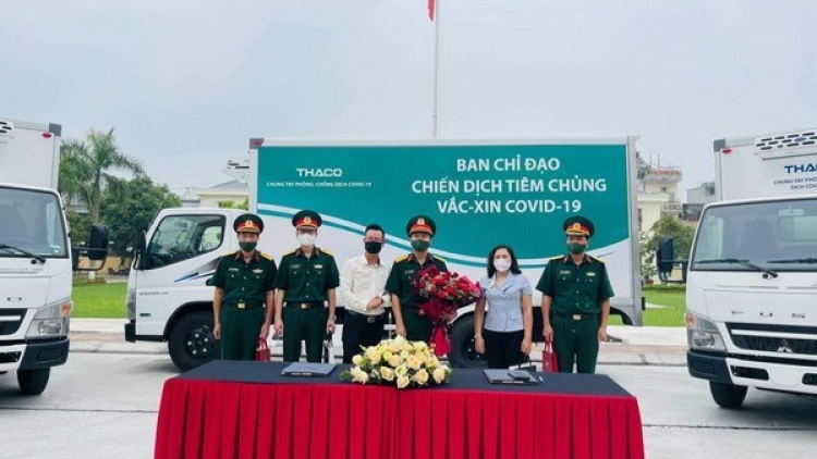 Refrigerated trucks allocated to Military Regions for COVID-19 vaccine transport