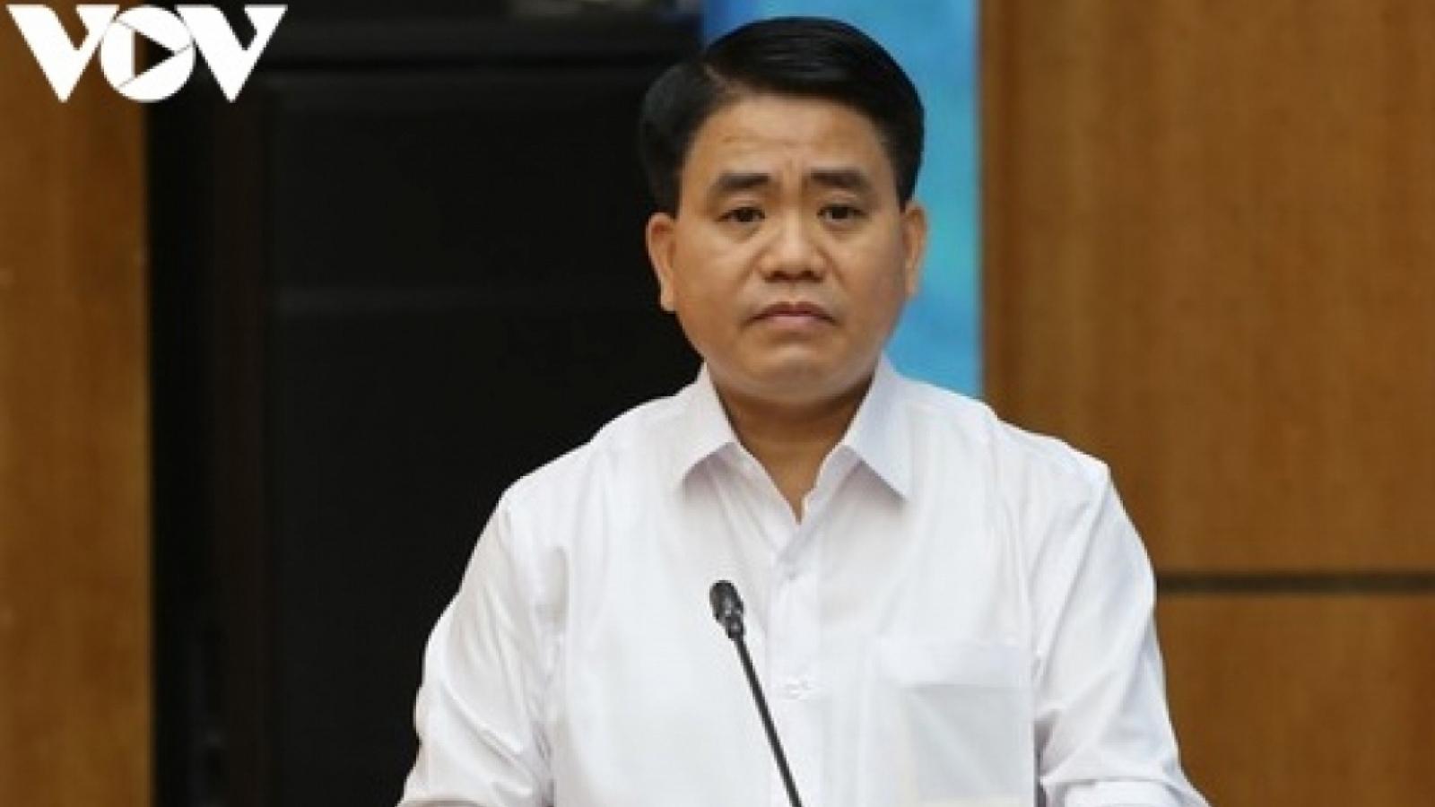 Khởi tố ông Nguyễn Đức Chung trong vụ án xảy ra tại Sở Kế hoạch và Đầu tư