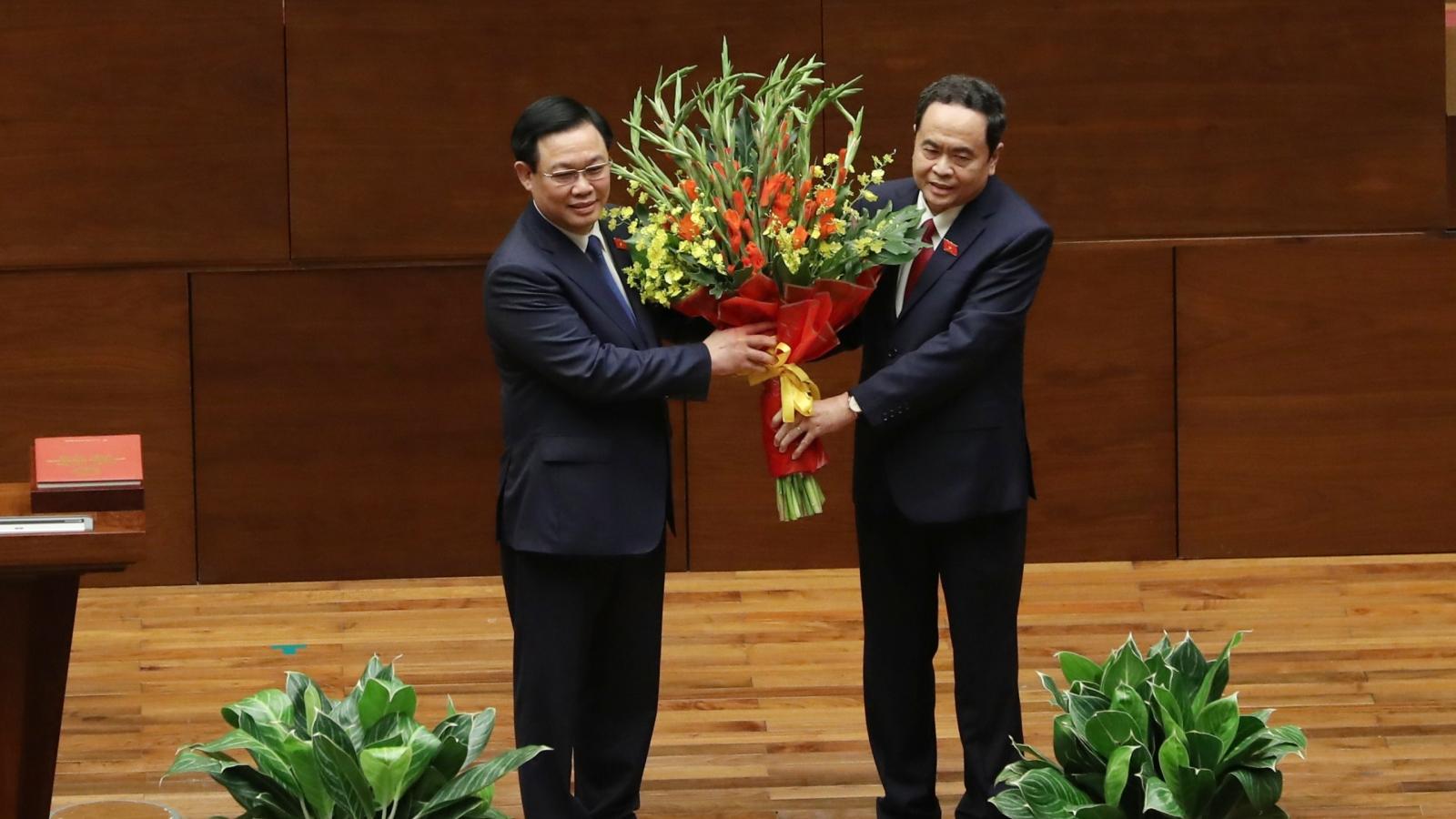 Chủ tịch Quốc hội Vương Đình Huệ nhận được sự tín nhiệm cao của đại biểu