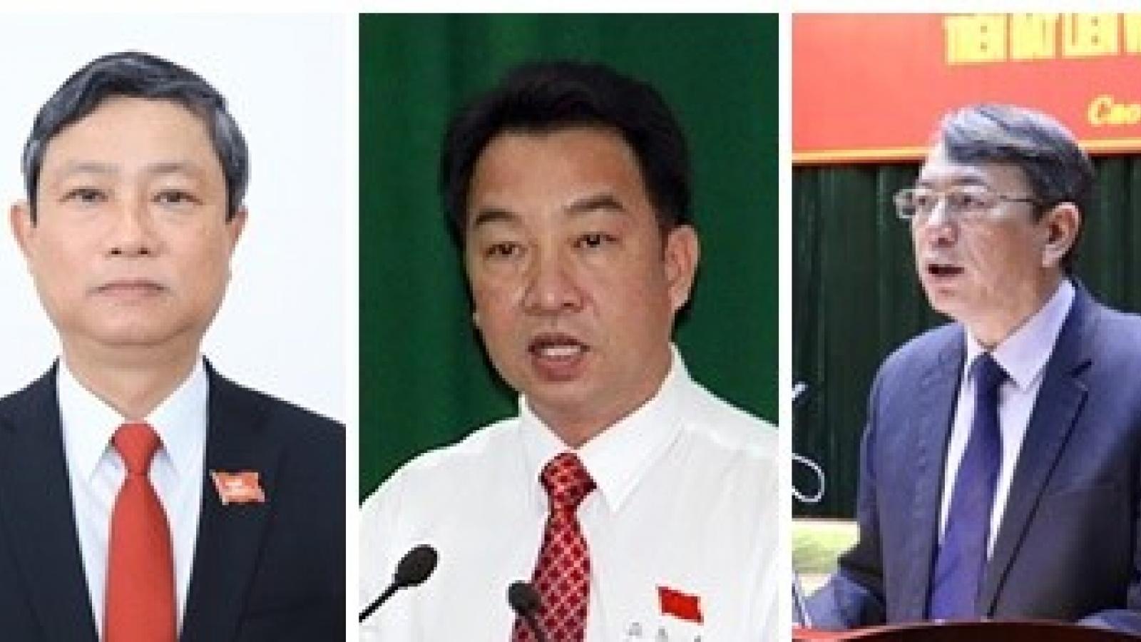 Phê chuẩn Chủ tịch, Phó Chủ tịch UBND tỉnh Bình Dương, Vĩnh Long, Cao Bằng