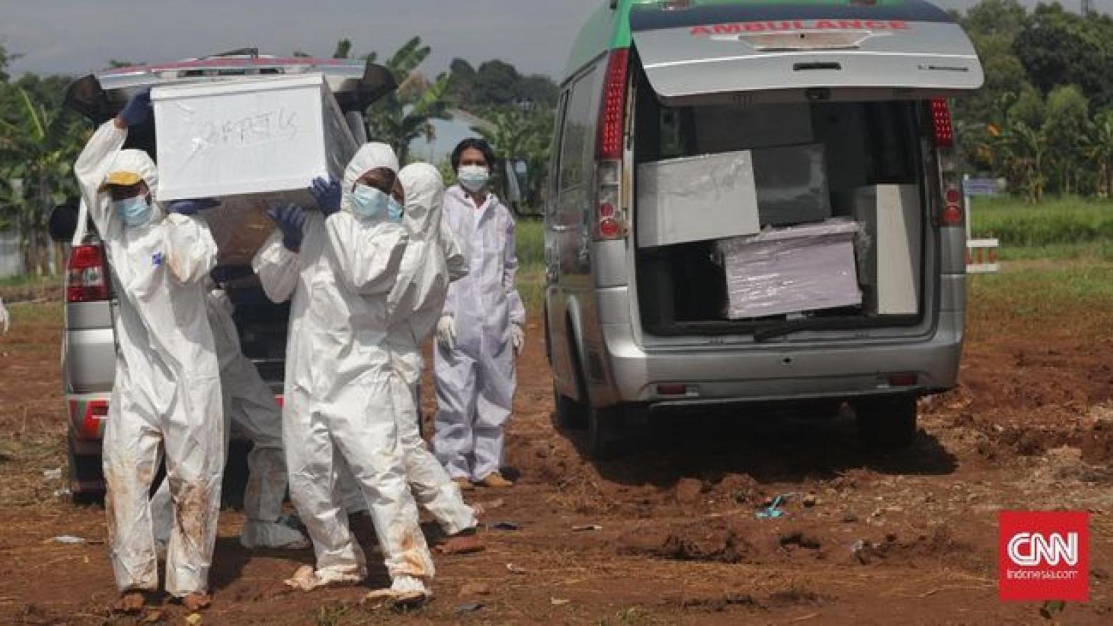 Ca tử vong do Covid-19 ở Indonesia tăng kỷ lục, số bác sĩ chết tăng 100%