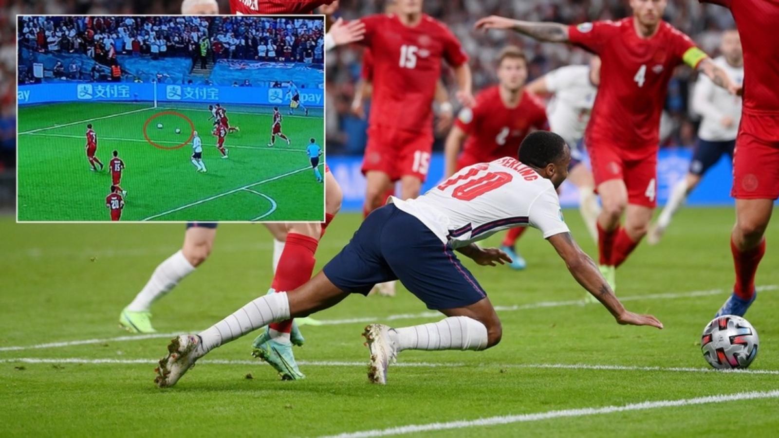 Cận cảnh: Quả penalty gây tranh cãi giúp Anh thắng Đan Mạch
