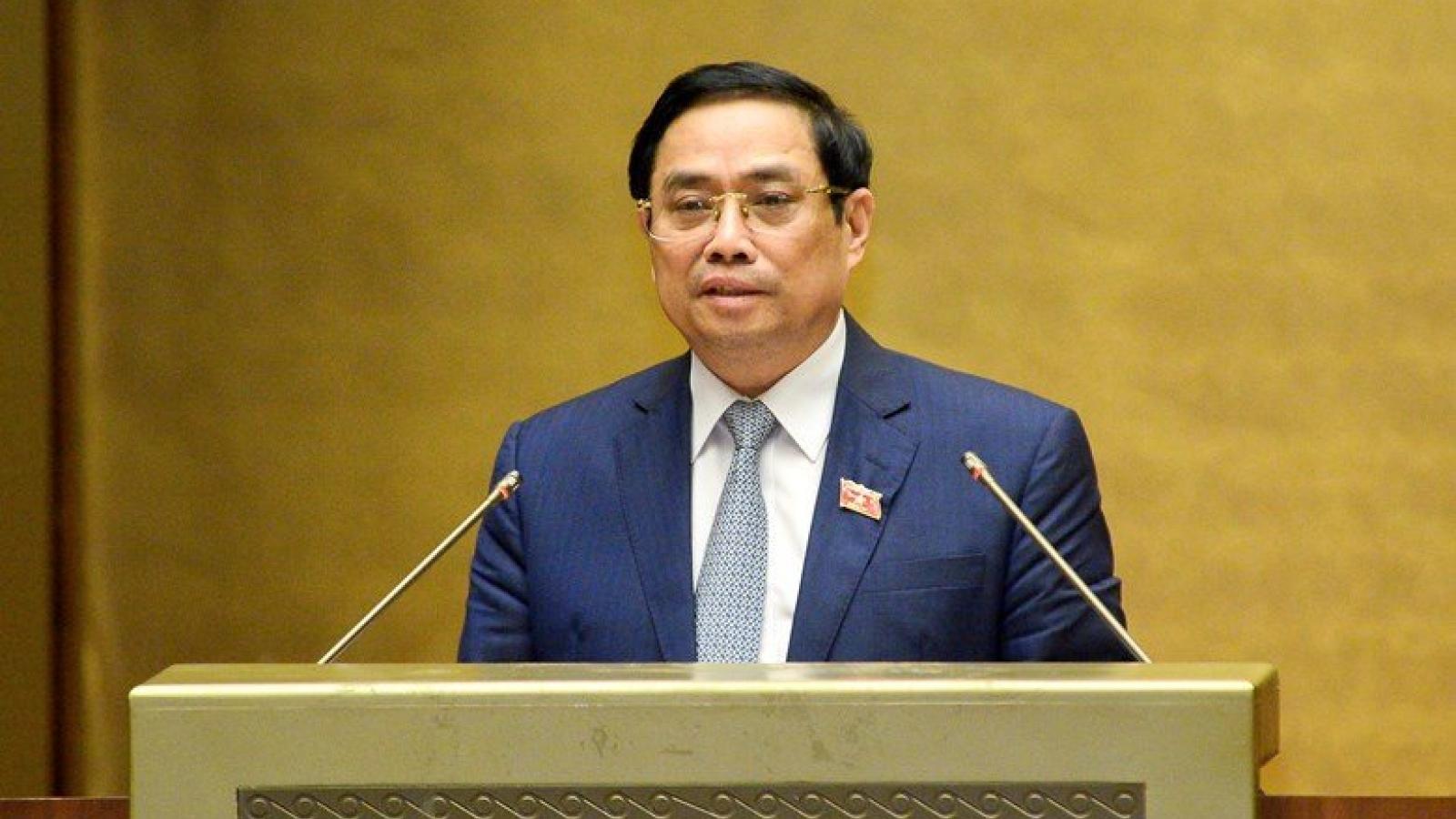 Thủ tướng trình cơ cấu Chính phủ khóa XV, giữ nguyên 18 bộ và 4 cơ quan ngang bộ