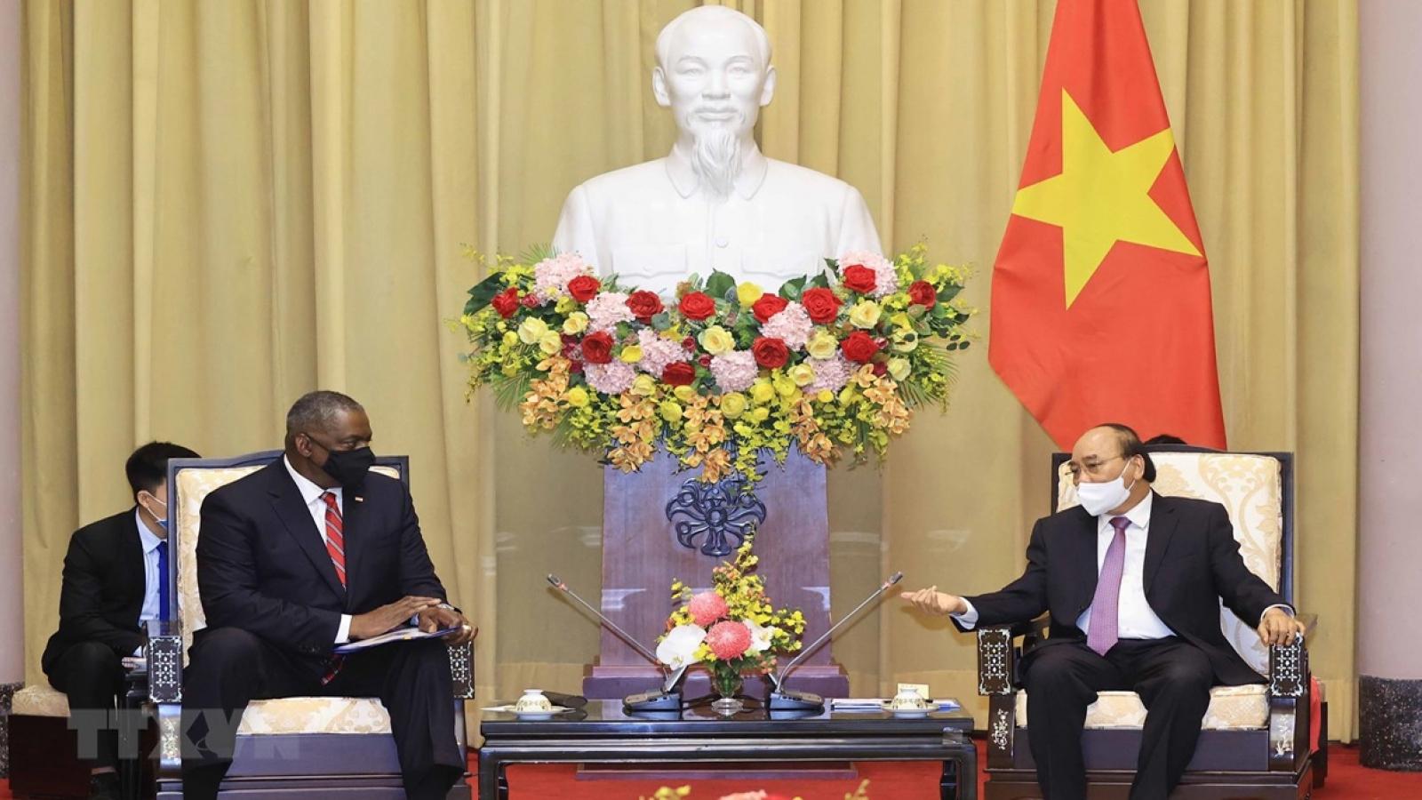 State President hails Vietnam-US defence cooperation