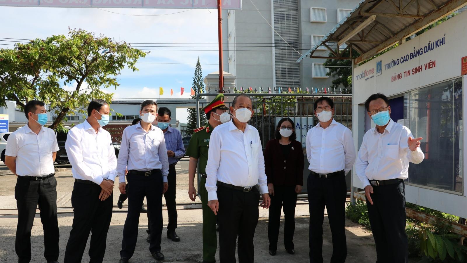 PTT Trương Hòa Bình: Bà Rịa-Vũng Tàu phải hỗ trợ người khó khăn trong dịch COVID-19