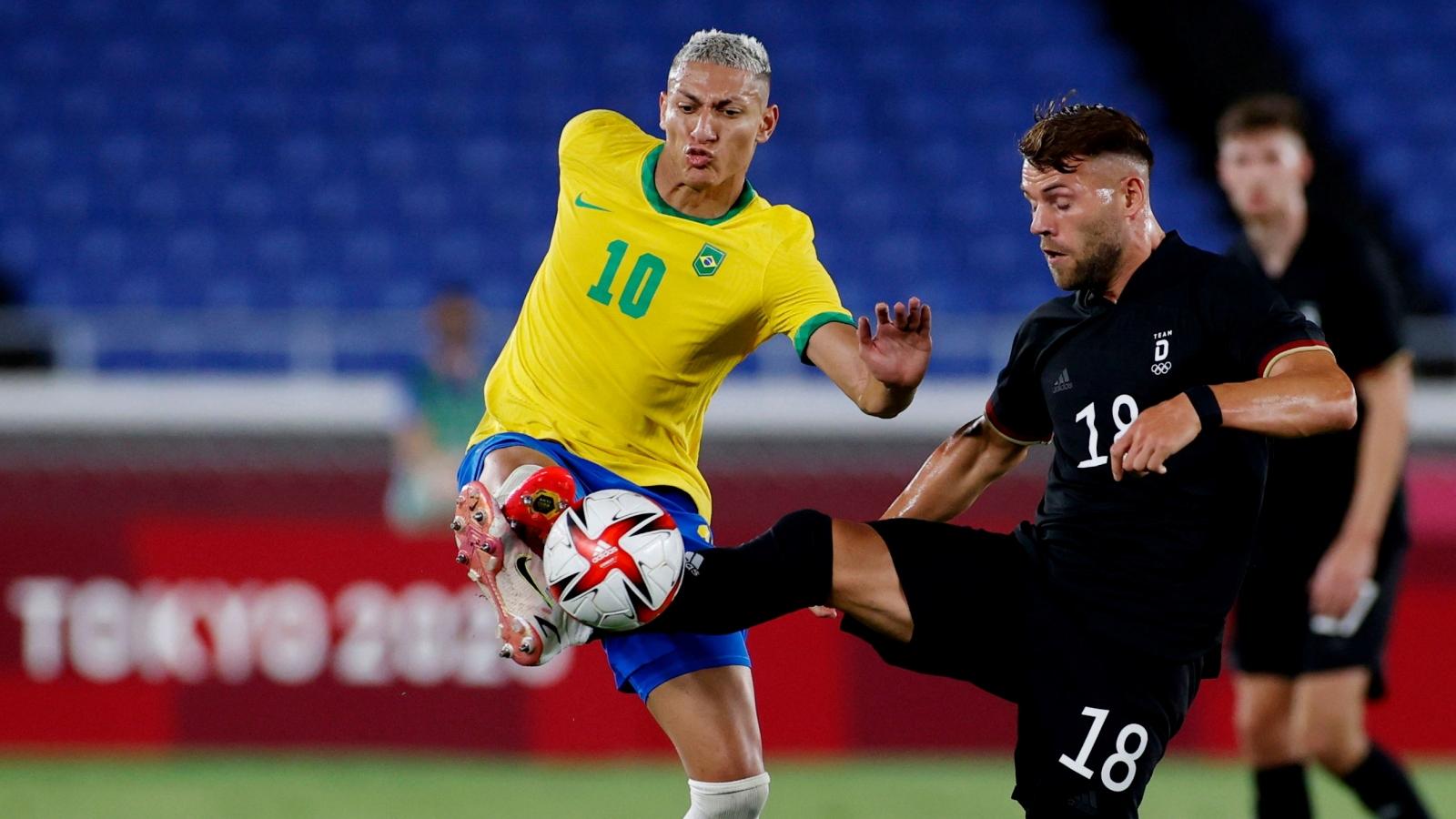 Richarlison lập hat-trick, Brazil thắng dễ Đức ngày ra quân Olympic Tokyo