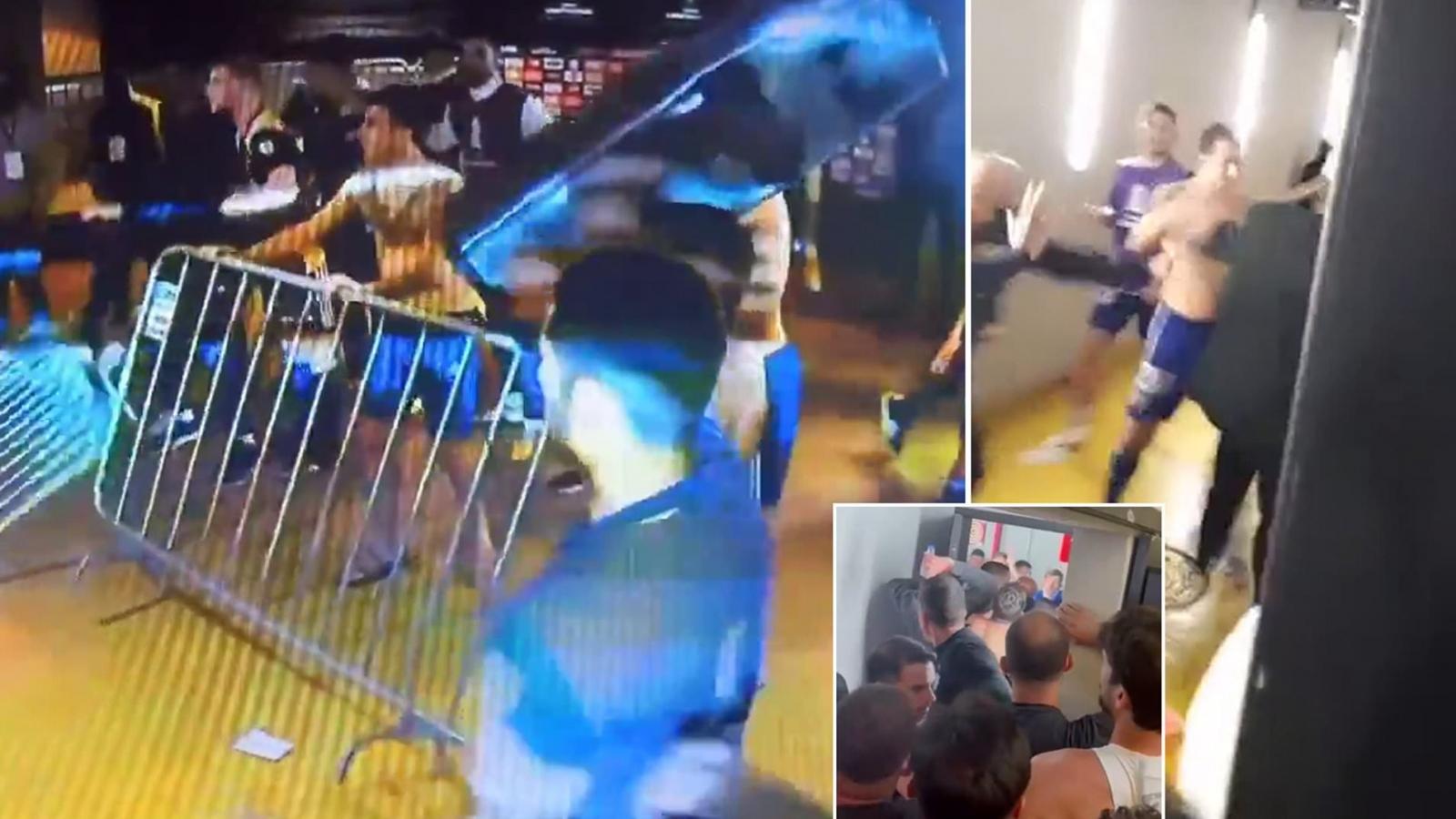 Hỗn chiến kinh hoàng ở Copa Libertadores: Cựu sao MU hung hăng đánh người