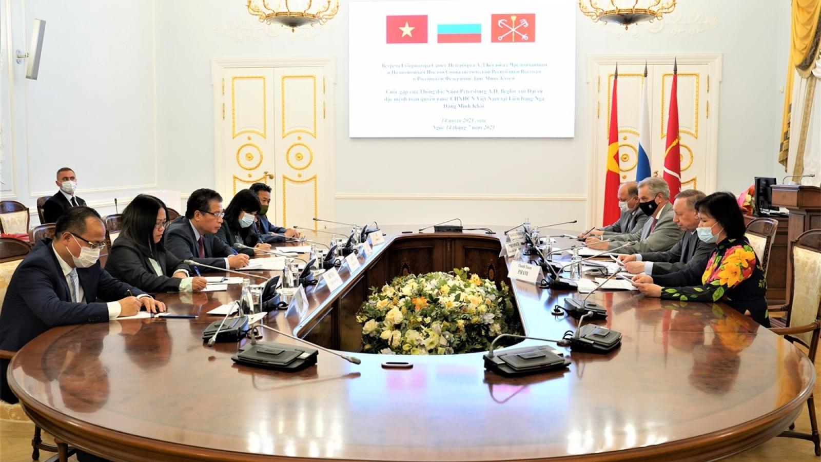 Thành phố Saint Petersburg (Nga) thúc đẩy hợp tác với Việt Nam trên tất cả lĩnh vực