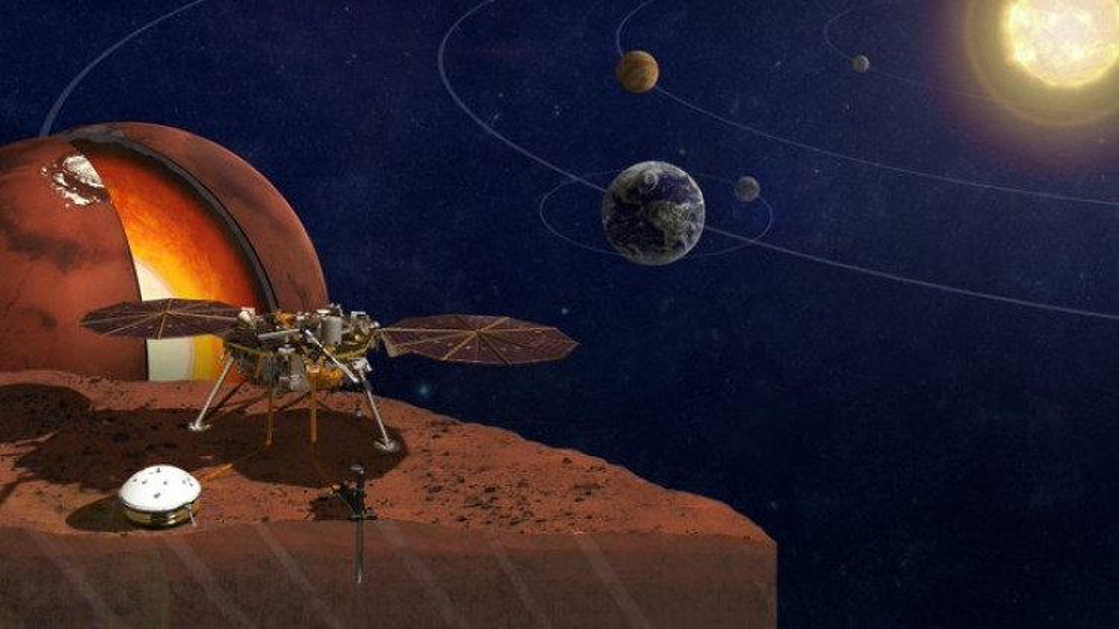 Phát hiện bất ngờ sau khi NASA lần đầu tiên vẽ được bản đồ bên trong sao Hỏa