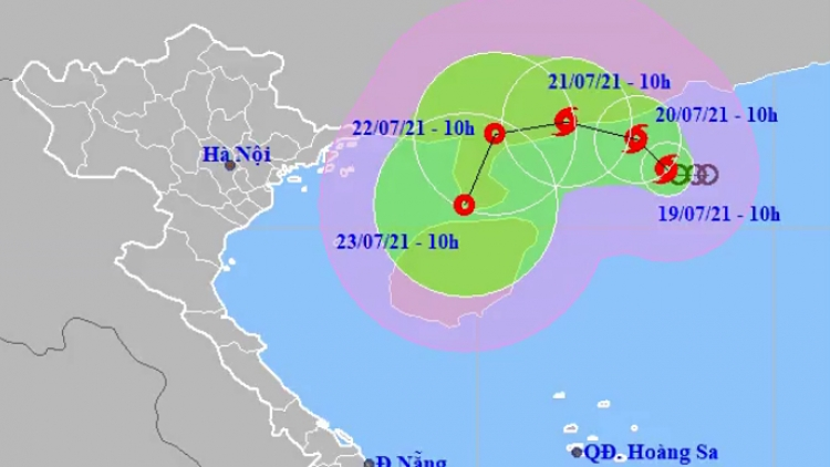 Tropical low depression strengthens into storm in East Sea