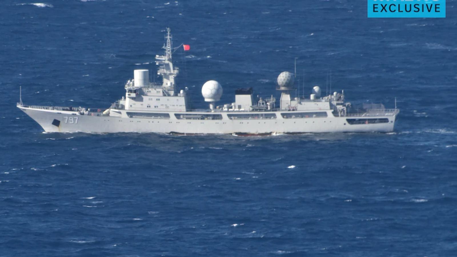 Tàu do thám Trung Quốc xuất hiện ở vùng biển ngoài khơi bang Queensland của Australia