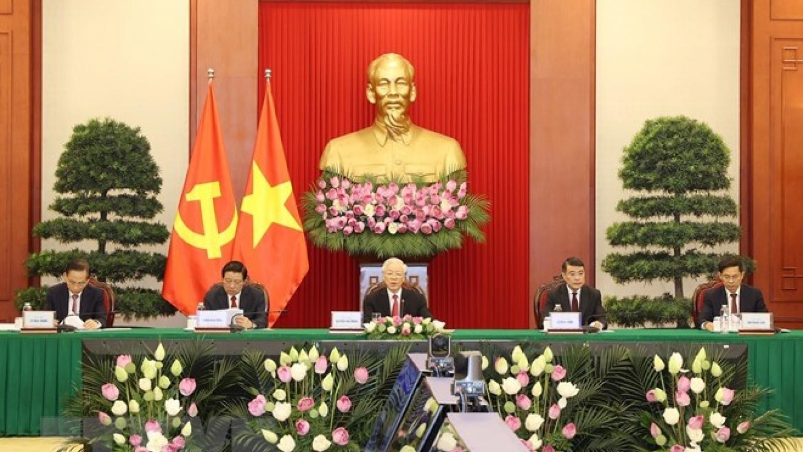 Tổng Bí thư nêu quan điểm về trách nhiệm của các chính đảng đối với hạnh phúc nhân dân