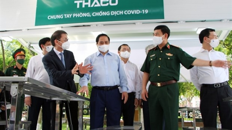 THACO donates specialised trucks for transporting vaccines, mobile vaccination