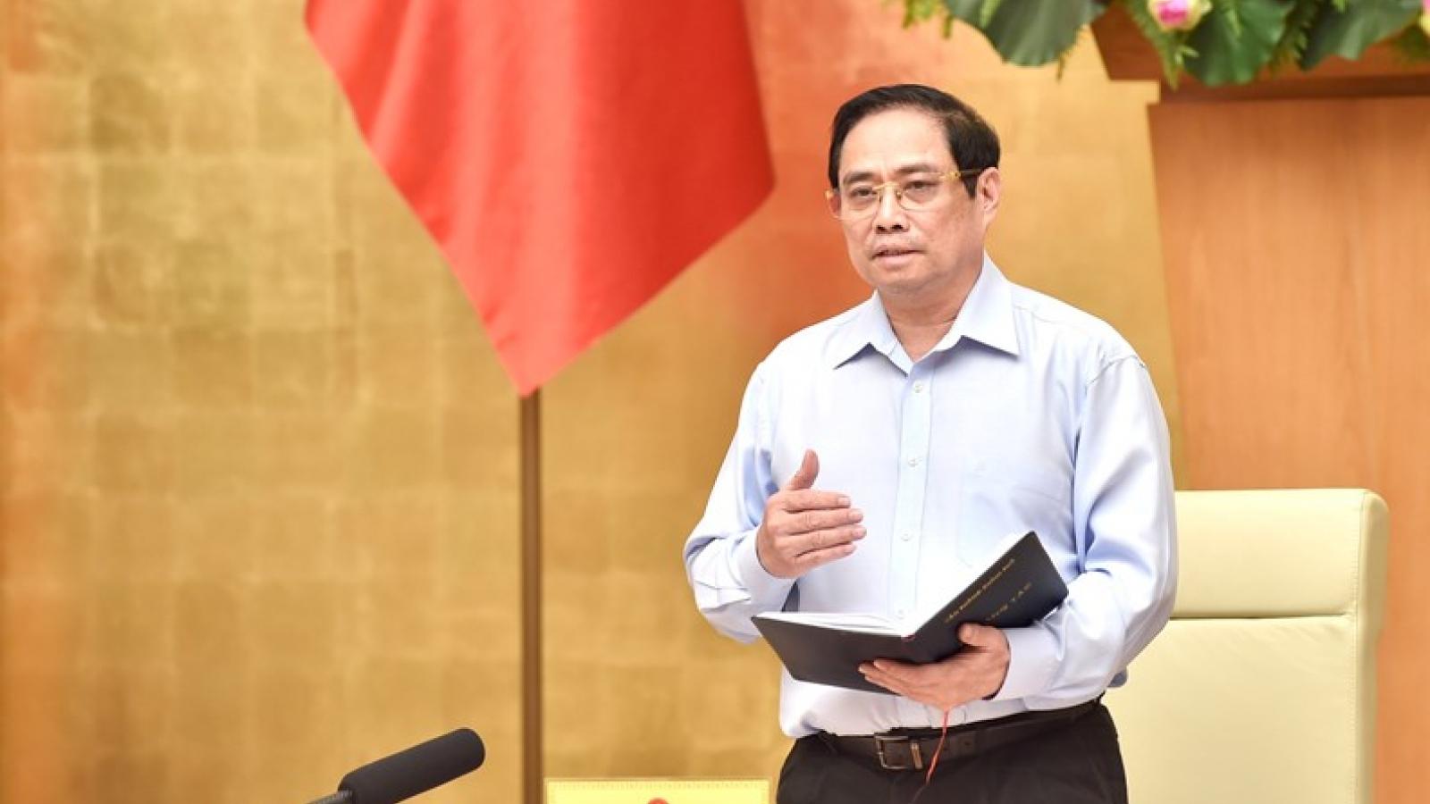 Kết luận của Thủ tướng tại cuộc họp Thường trực Chính phủ về công tác phòng chống COVID-19