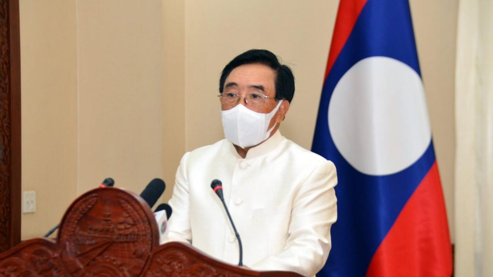 Thủ tướng Lào kêu gọi người dân không chủ quan, cùng hợp tác chống Covid-19