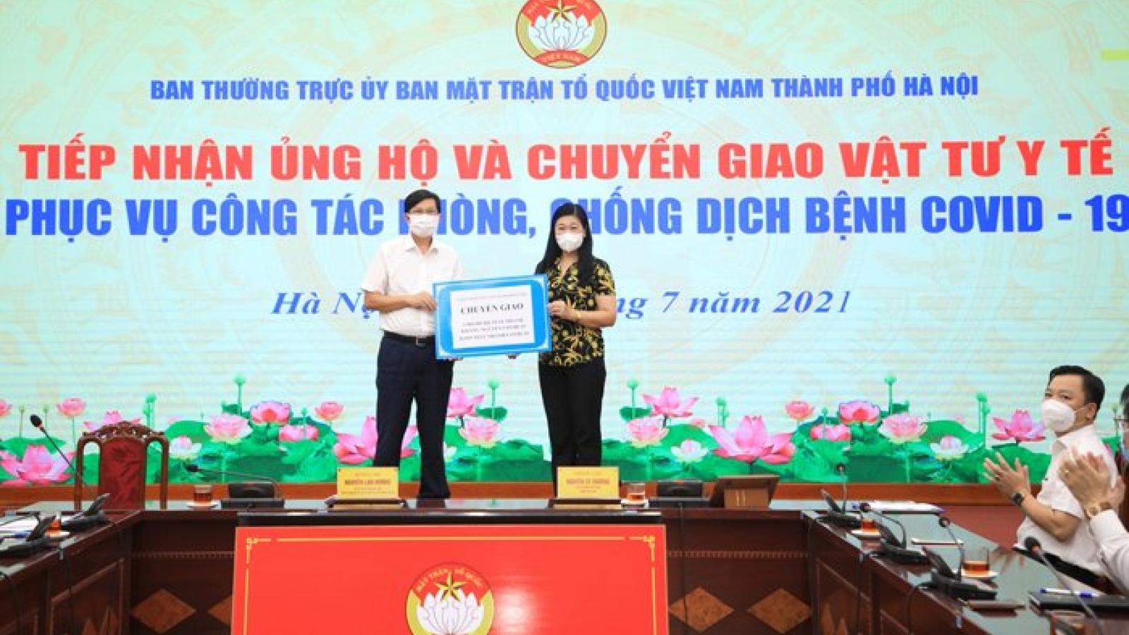 MTTQ Hà Nội tiếp nhận ủng hộ hơn 1,6 tỷ đồng phòng, chống dịch Covid-19