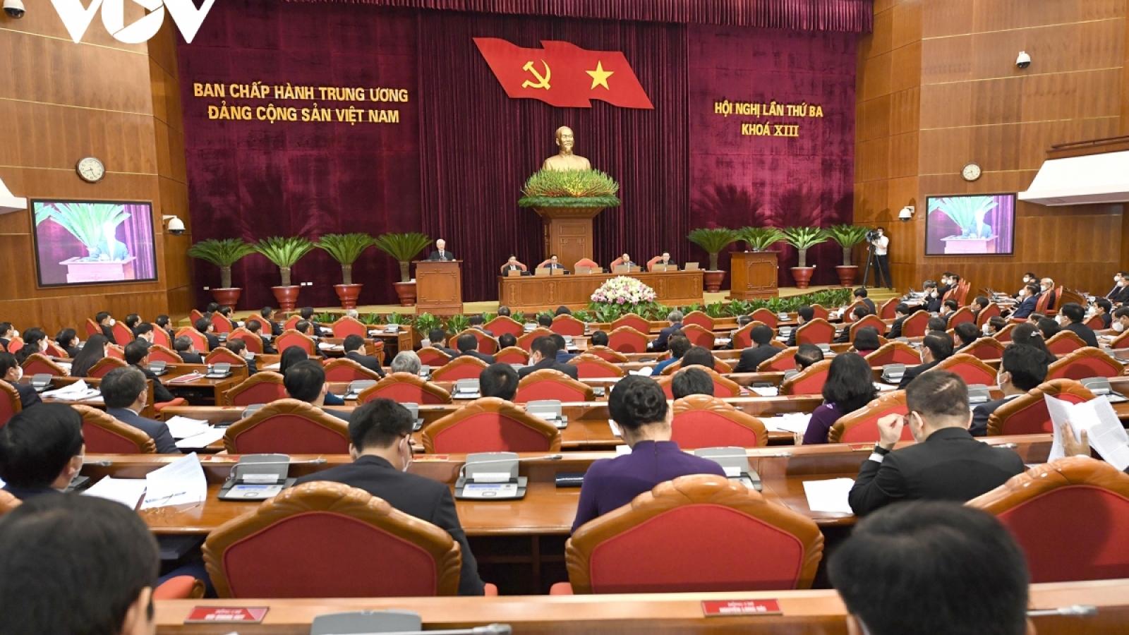 Toàn cảnh Hội nghị lần thứ 3 Ban Chấp hành Trung ương Đảng khóa XIII