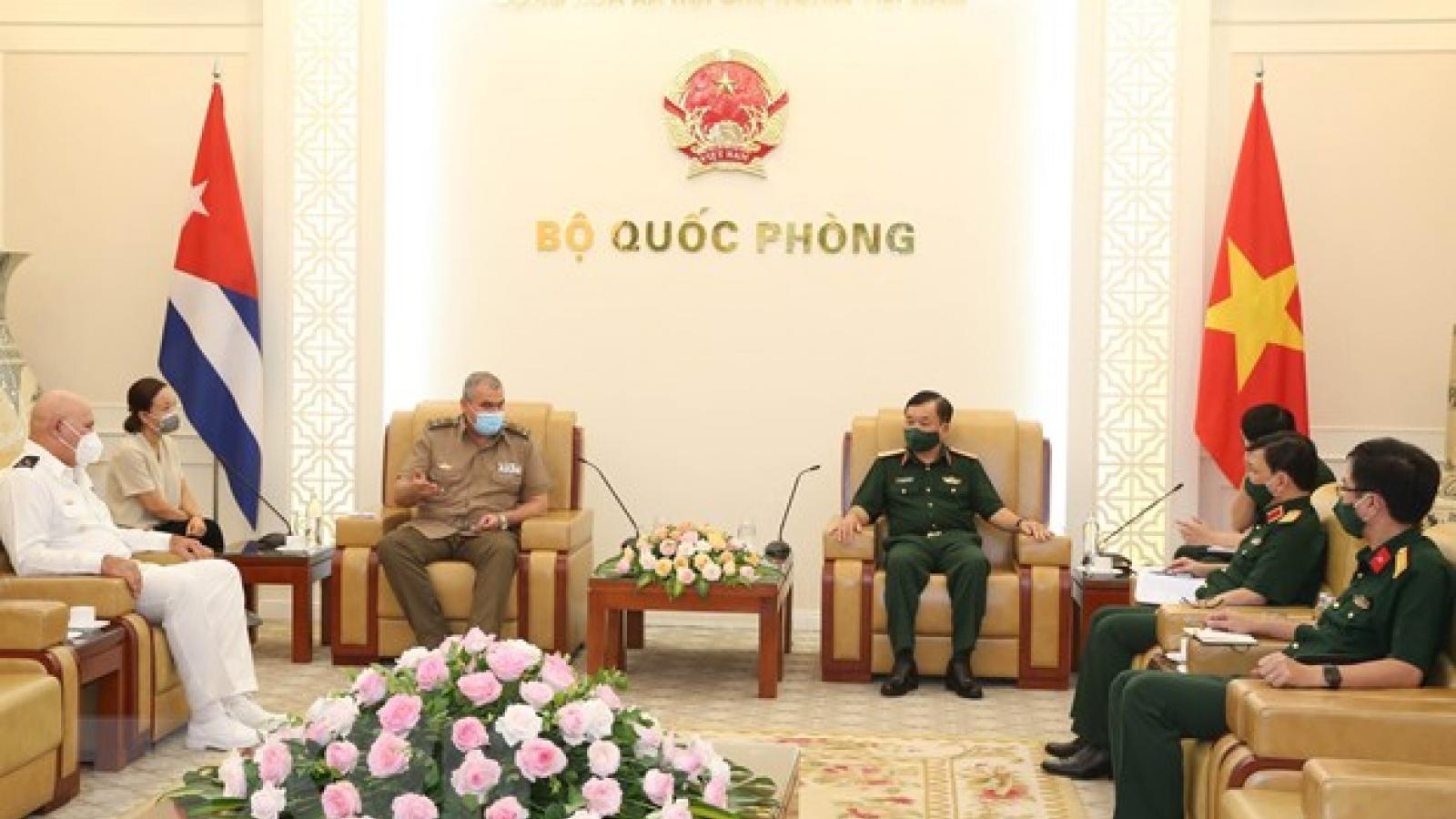 Bộ Quốc phòng Việt Nam tặng Cuba thiết bị, vật tư y tế phòng, chống dịch