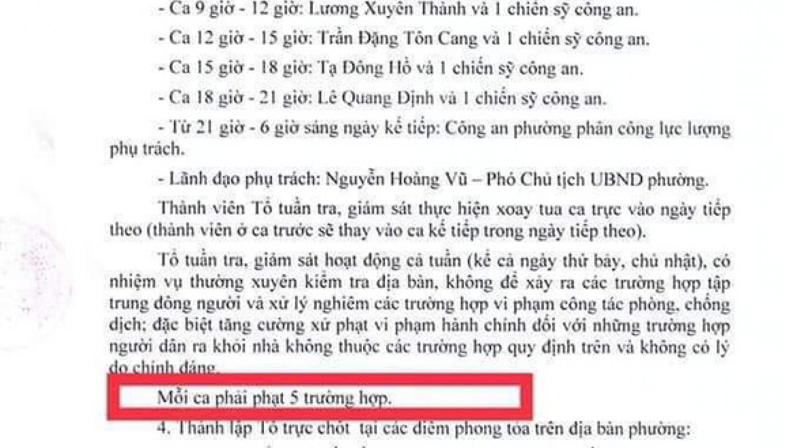 UBND phường 6, quận Gò Vấp phản hồi văn bản xử phạt theo chỉ tiêu thành tích