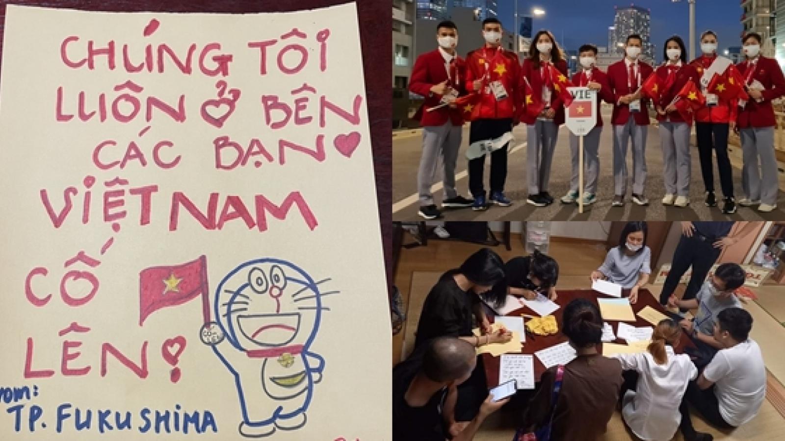 """Kiều bào Nhật Bản """"tiếp lửa"""" cho đoàn thể thao Việt Nam dự Olympic Tokyo"""