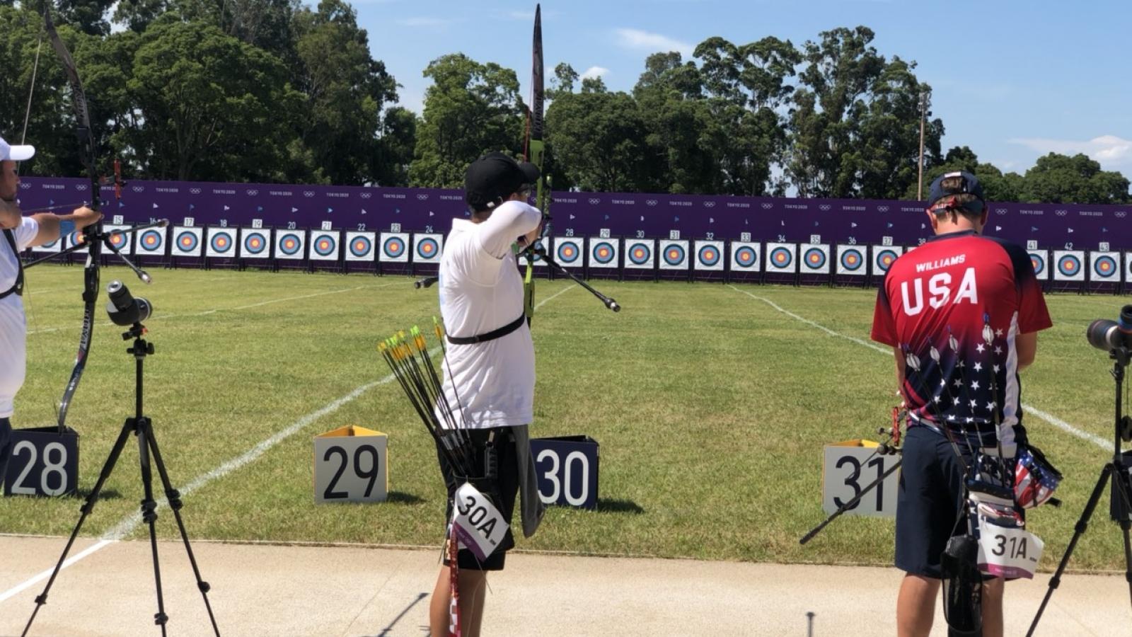 Vòng loại bắn cung nam Olympic Tokyo: Phi Vũ xếp hạng 53