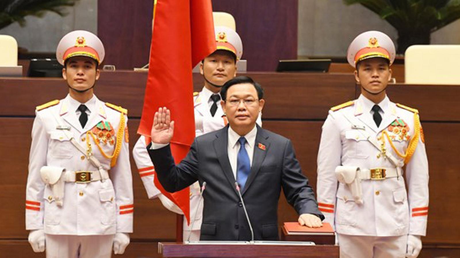 Chủ tịch Quốc hội Vương Đình Huệ lần thứ hai tuyên thệ nhậm chức